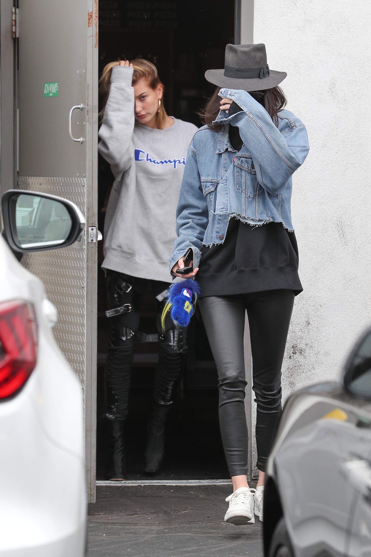 Kendall Jenner leaving a hair salon in LA