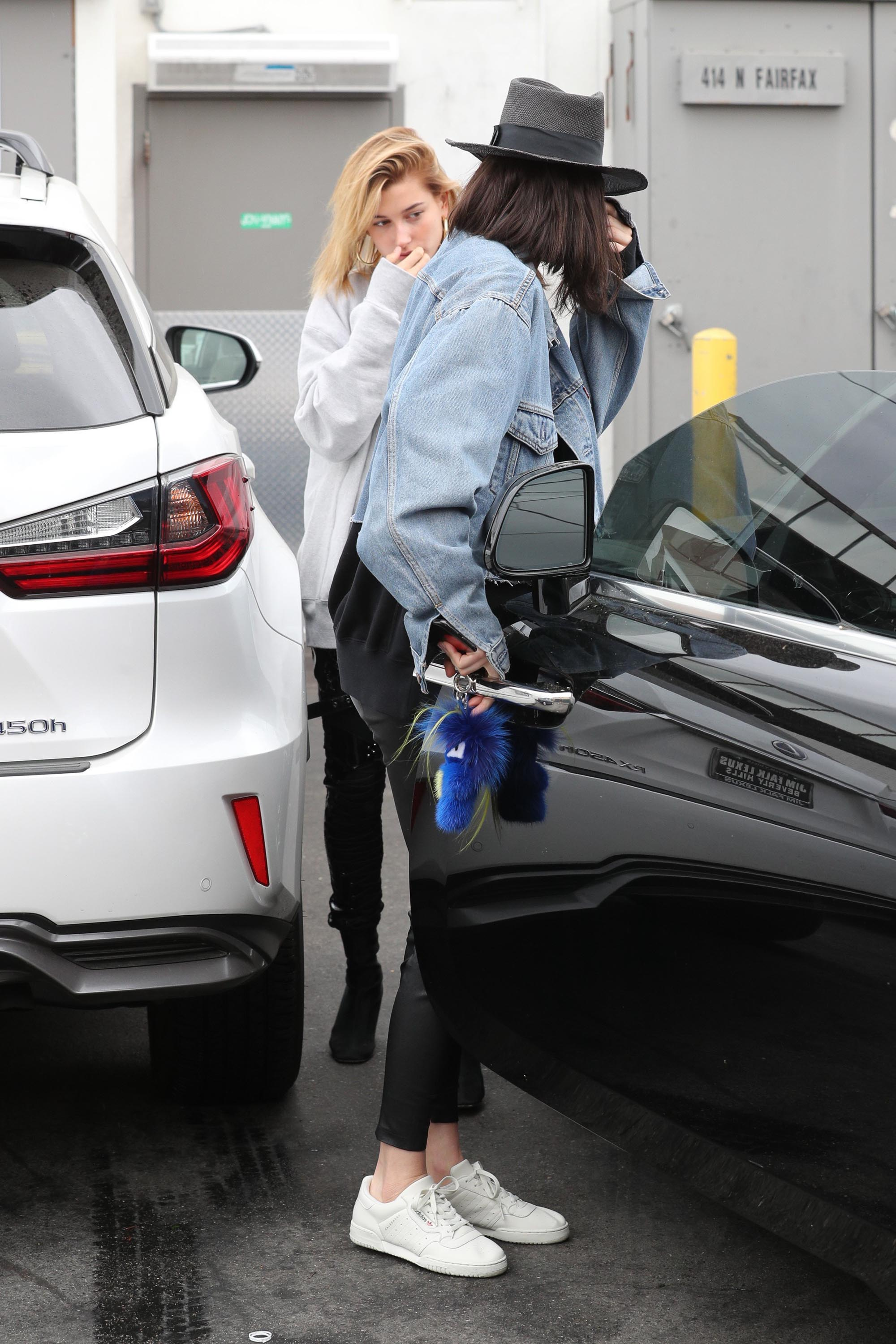 Kendall Jenner leaving a hair salon in LA