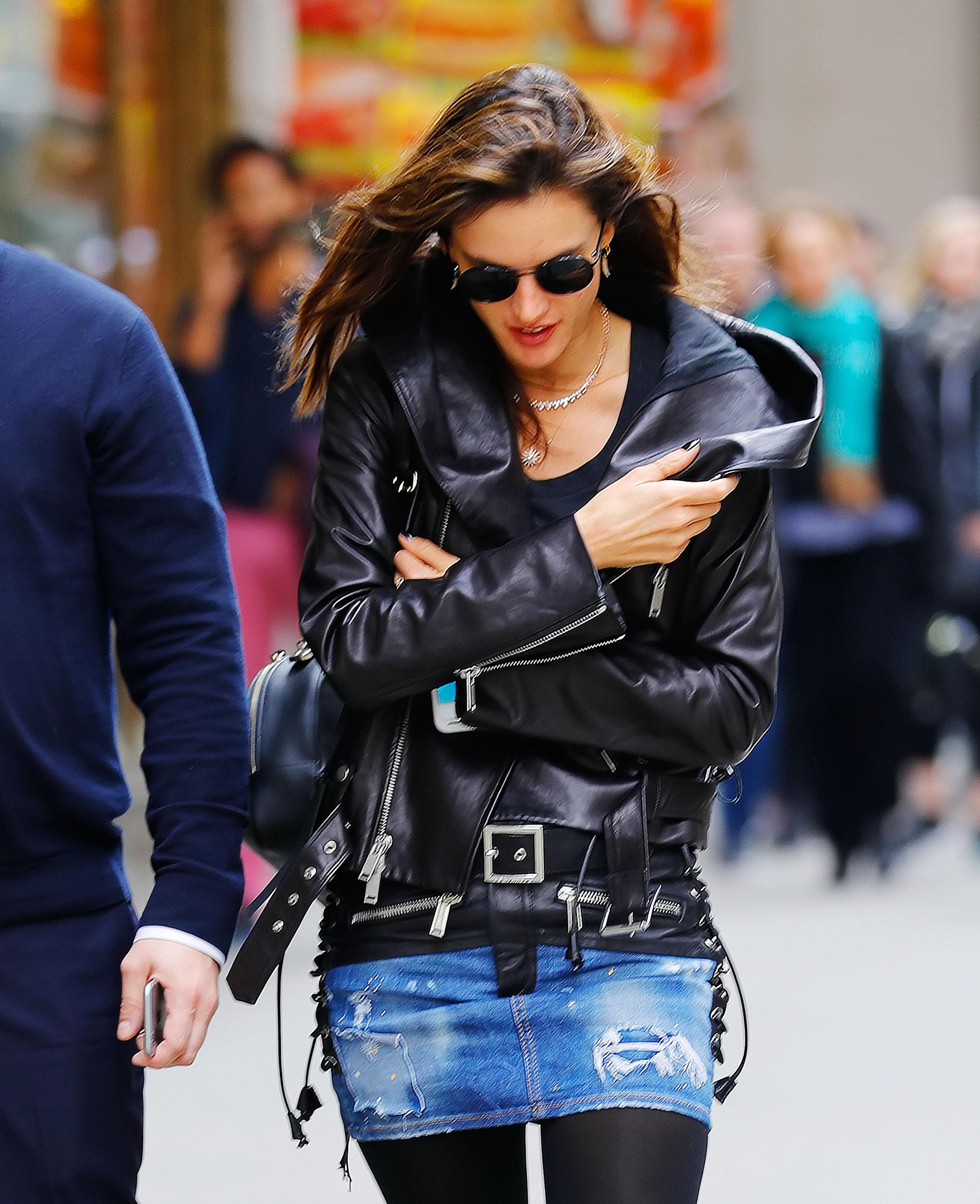 Alessandra Ambrosio out in NYC
