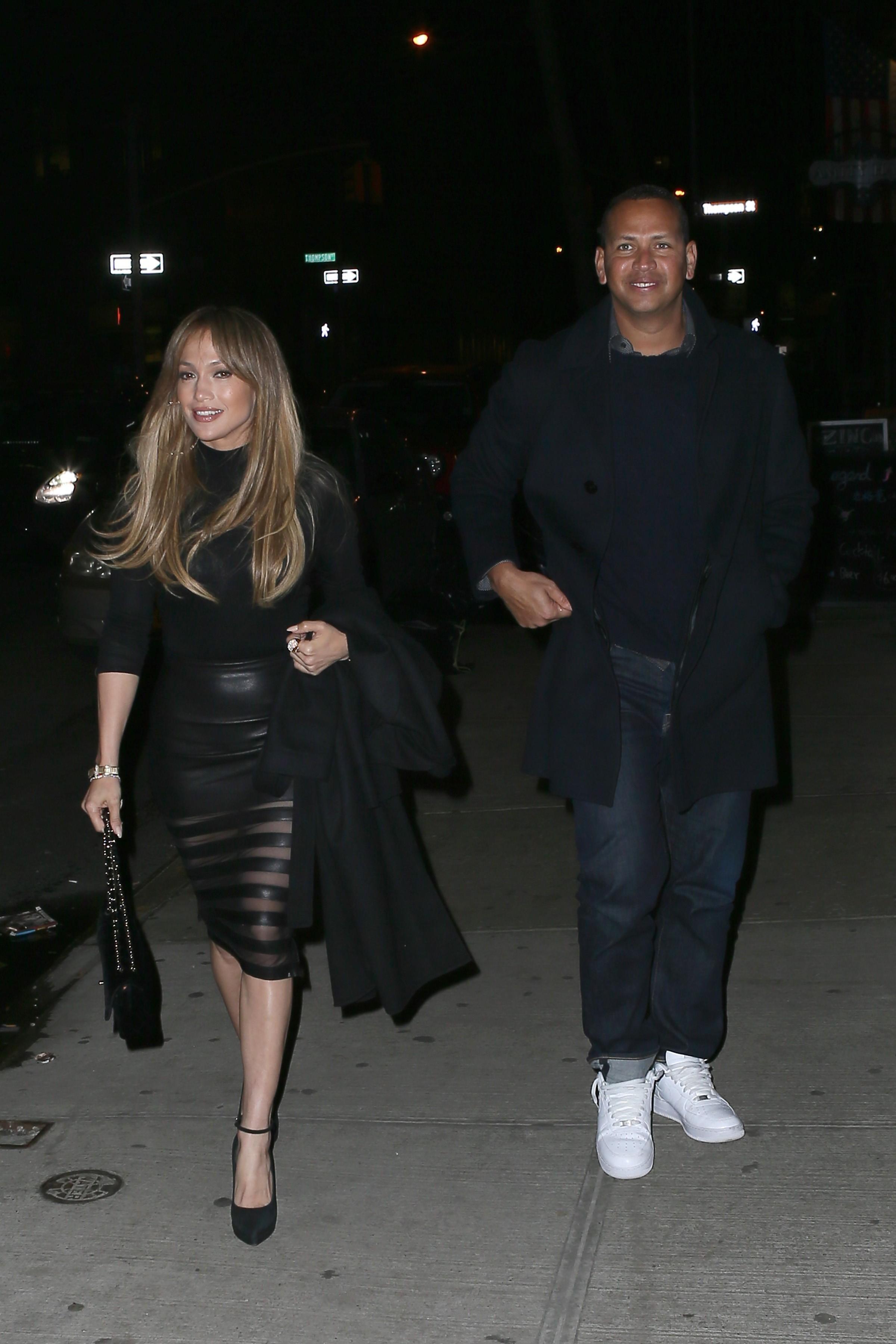 Jennifer Lopez seen at a night out at Il Mulino