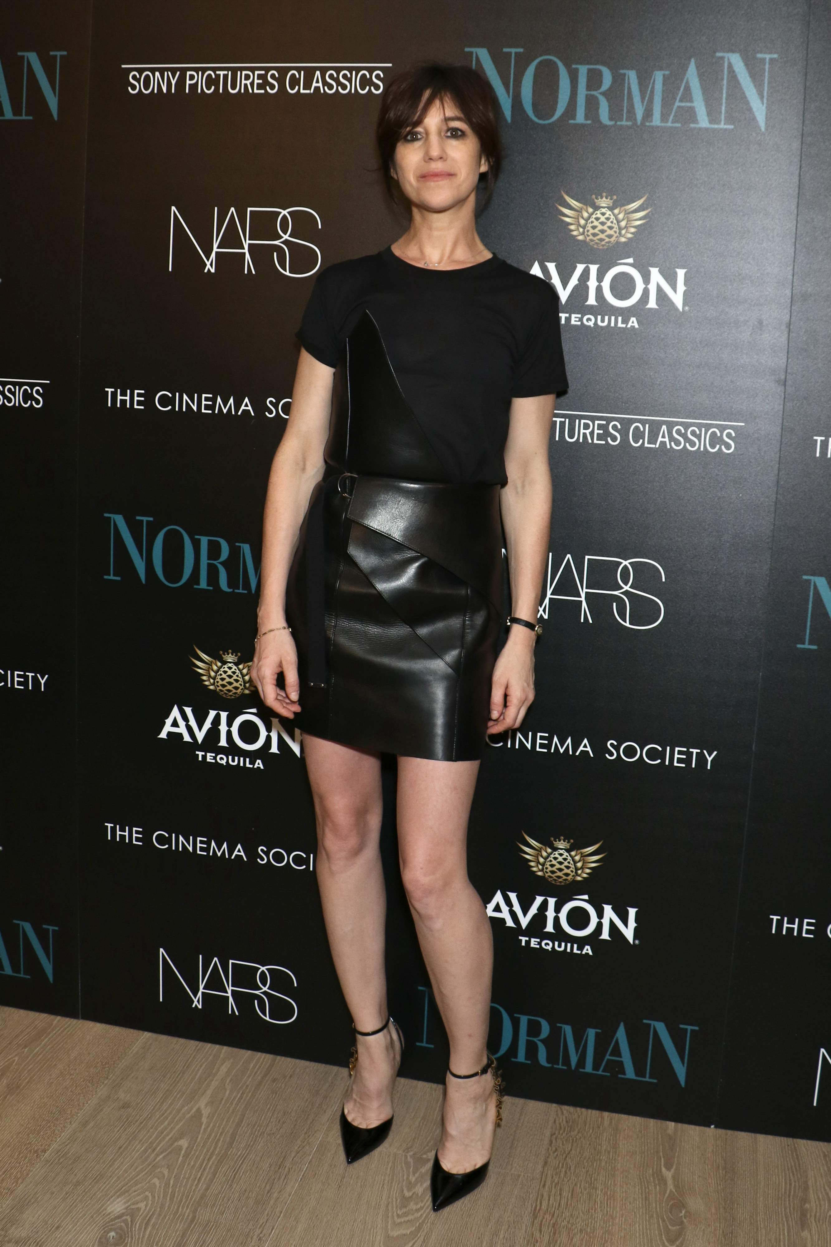 Charlotte Gainsbourg attends the premiere of Norman