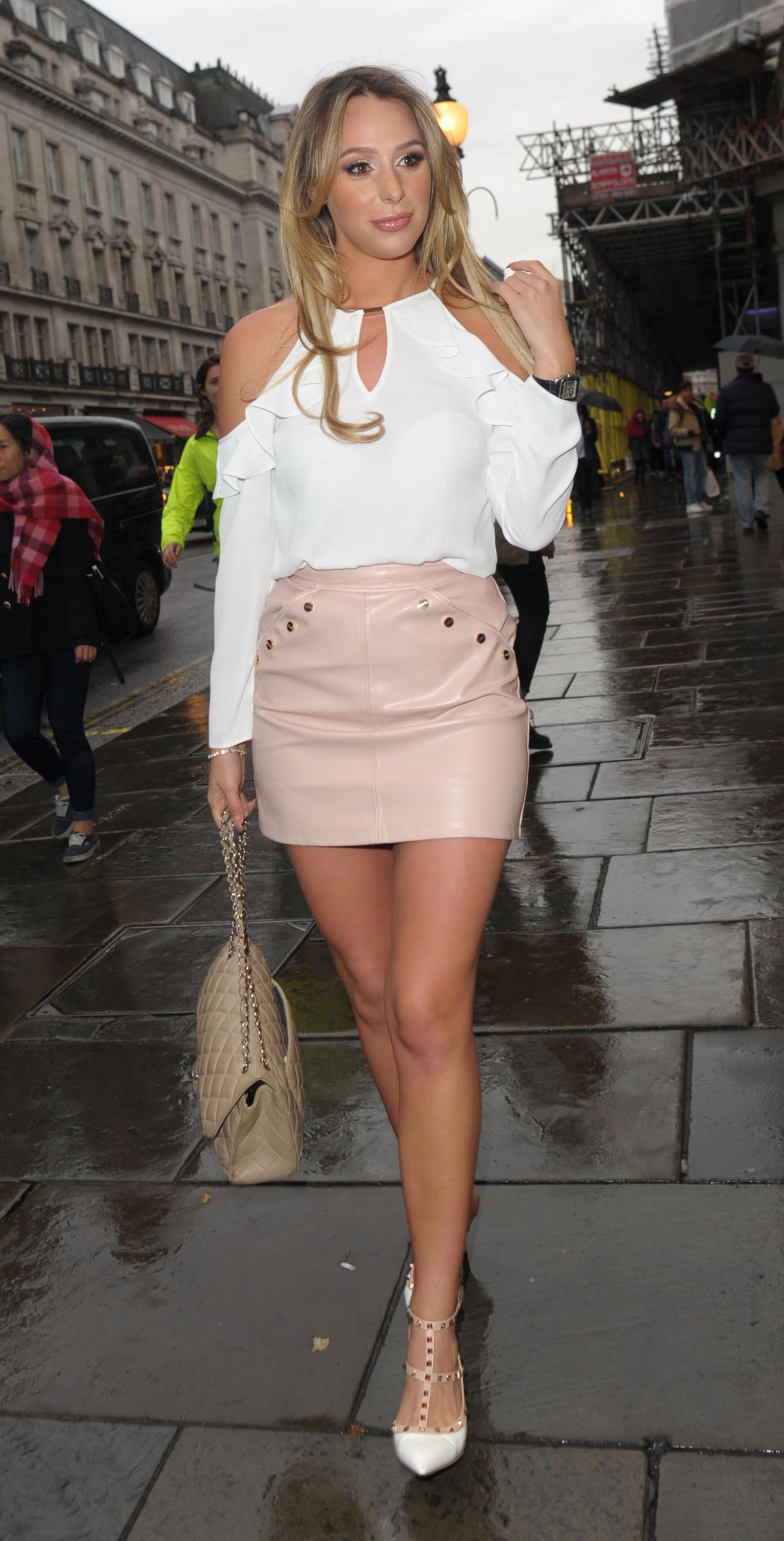 Amber Dowding attends Folli Follie Be Spring Ready party