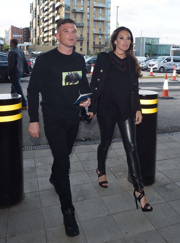 Danielle Lloyd at Wembley Stadium for the Anthony Joshua fight