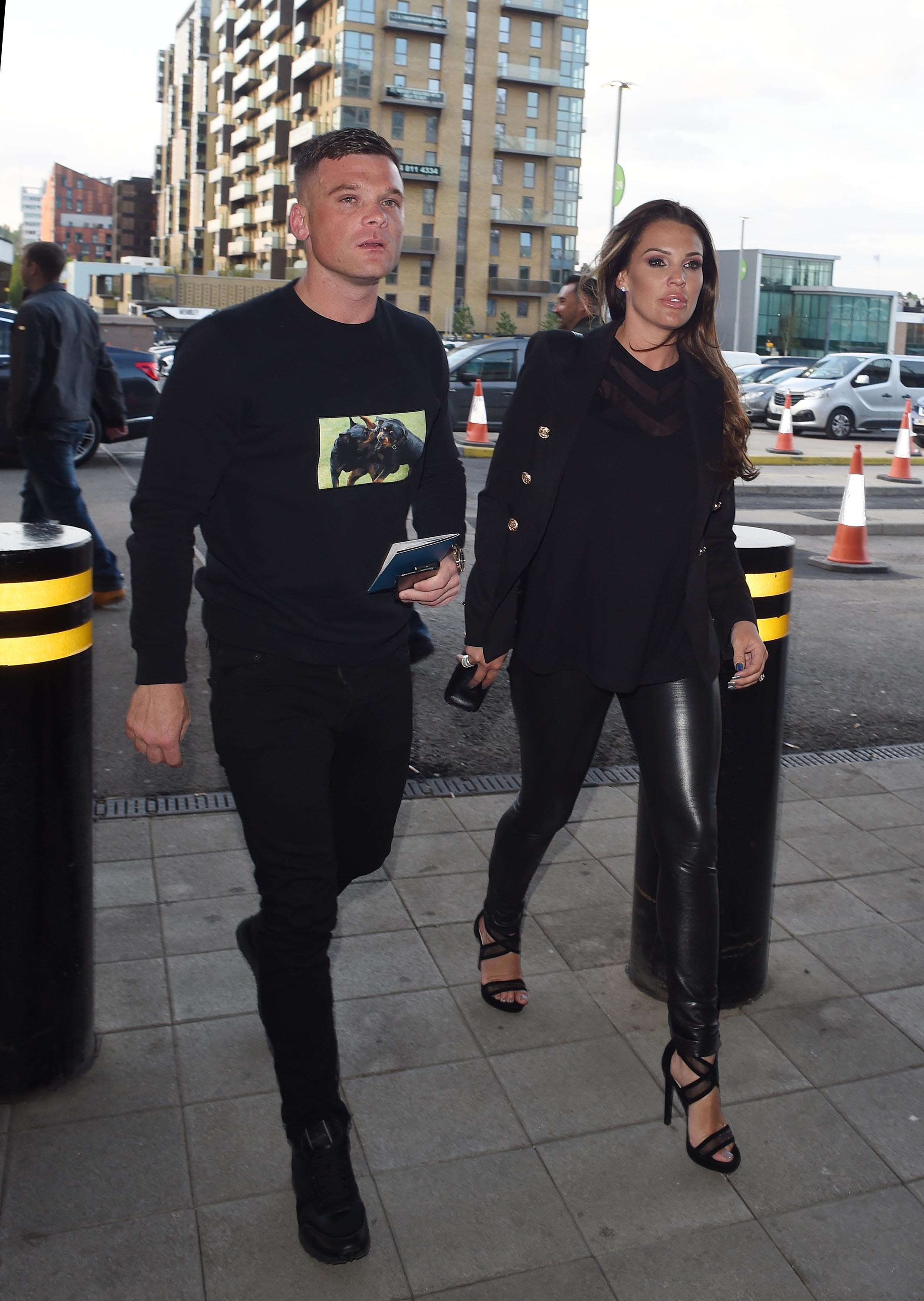Danielle Lloyd at Wembley Stadium for the Anthony Joshua fight