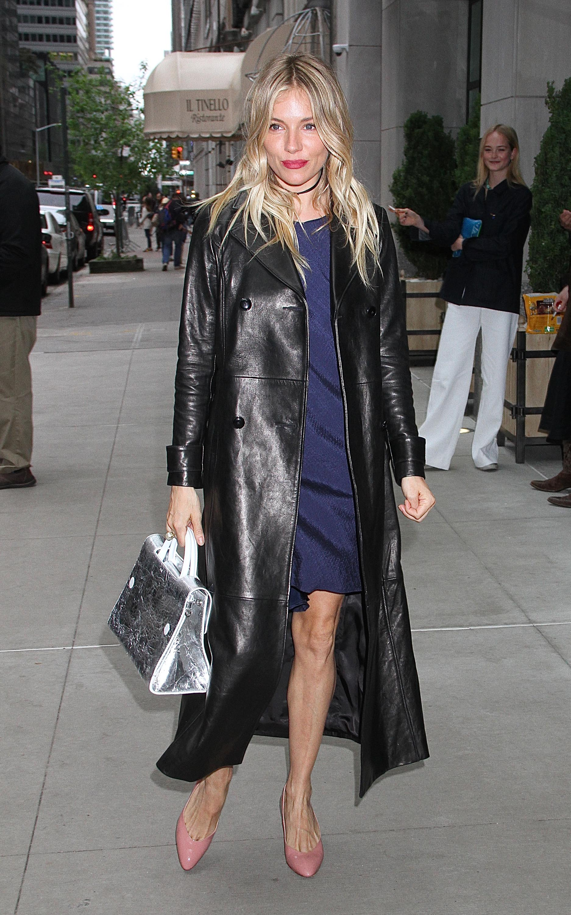 Sienna Miller arriving at a screening of the film '3 Generations'