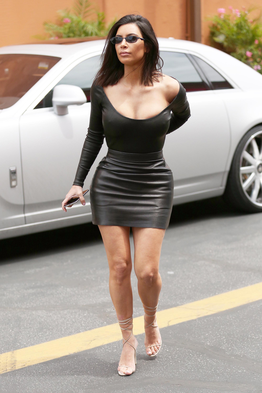 Kim Kardashian arrives to Film KUWTK