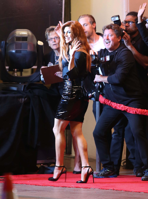 Stacy Ferguson filming a new video in LA