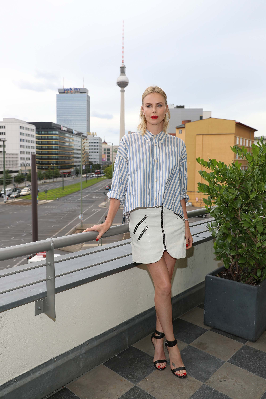 Charlize Theron promotes Atomic Blonde