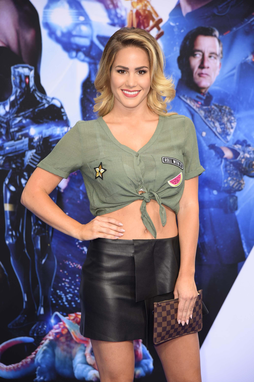 Angelina Heger attends the premiere of Valerian Die Stadt der tausend Planeten