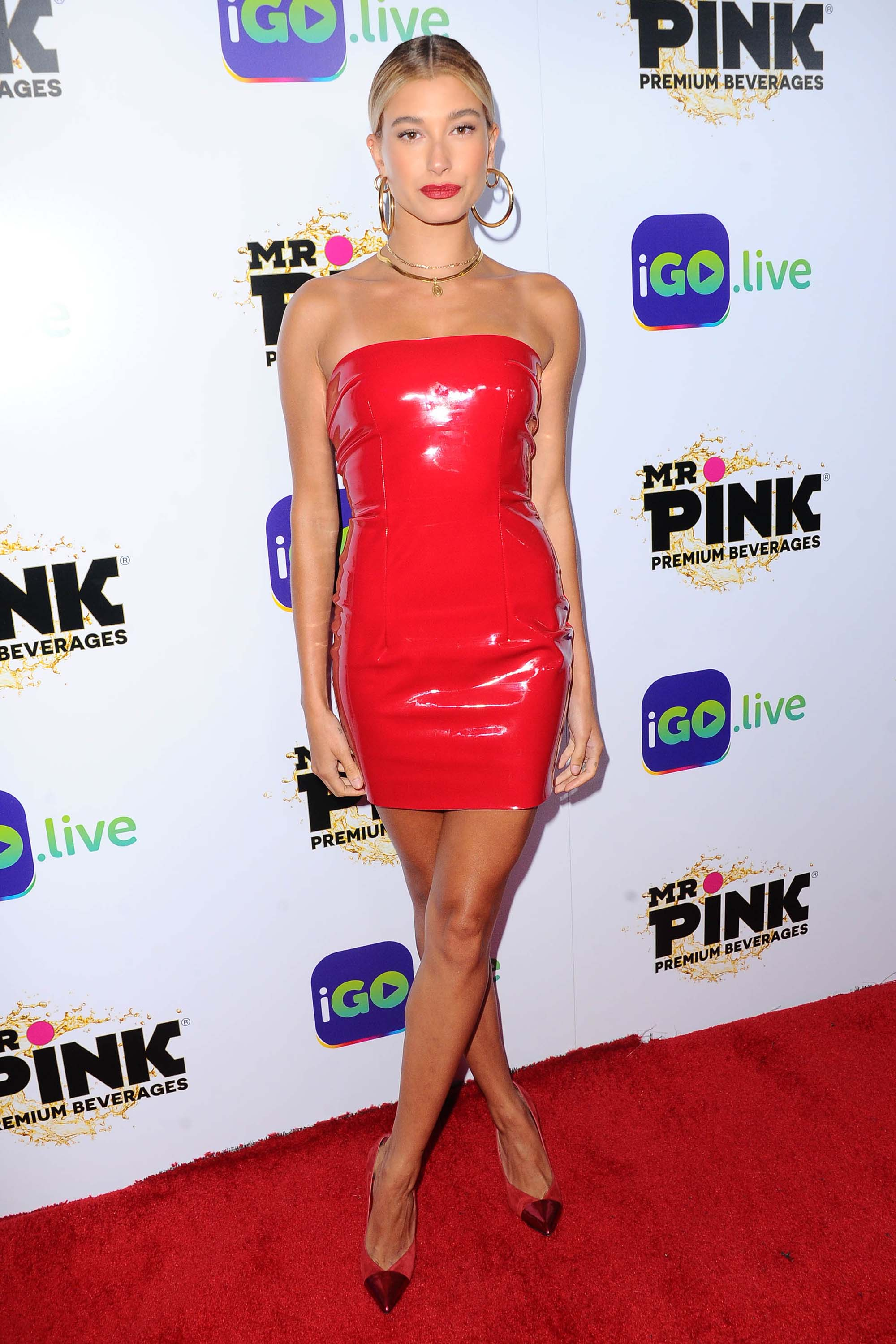 Hailey Baldwin attends Go live Launch Event