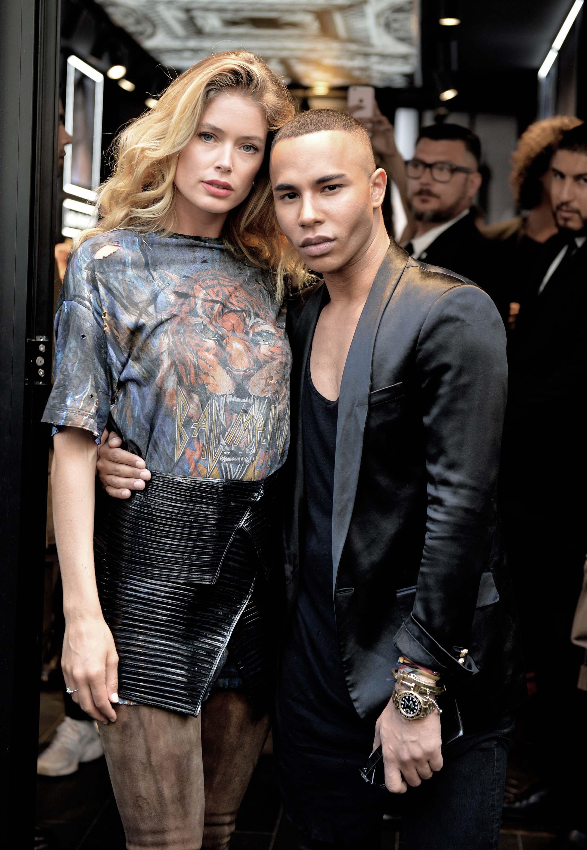 Doutzen Kroes attends Color Riche L'Oreal Paris x Balmain Premiere
