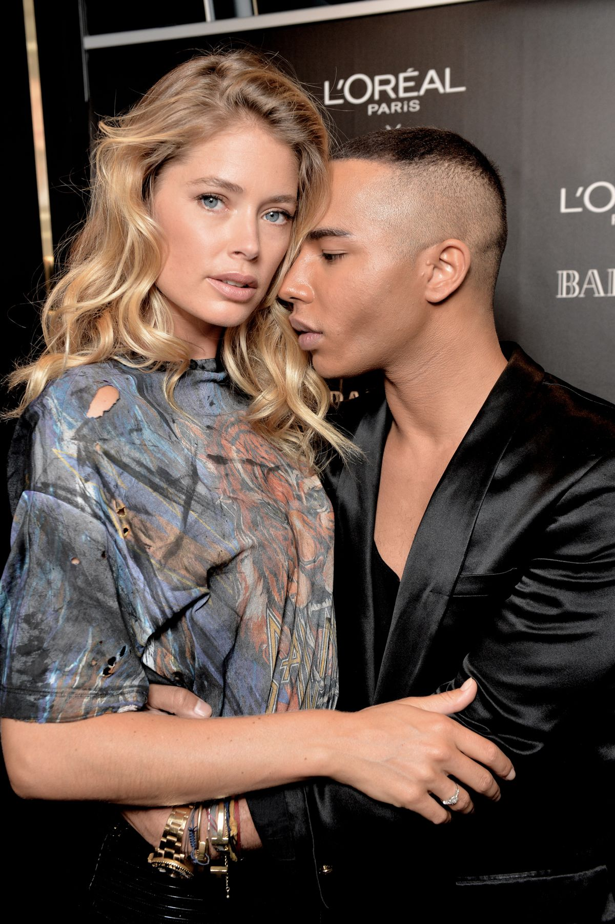 Doutzen Kroes attends Color Riche L'Oreal Paris x Balmain Premiere