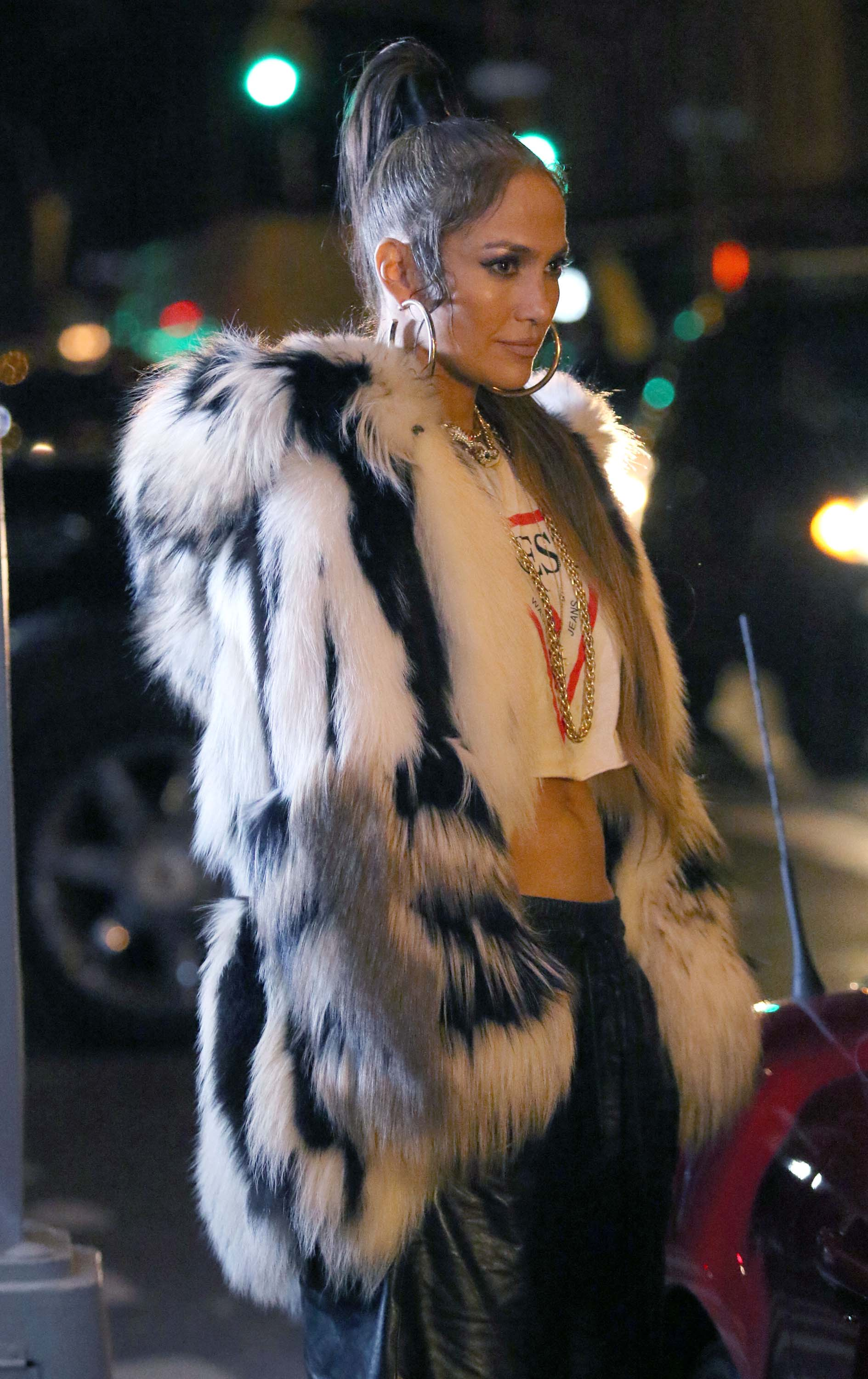 Jennifer Lopez filming her latest Music Video Amor