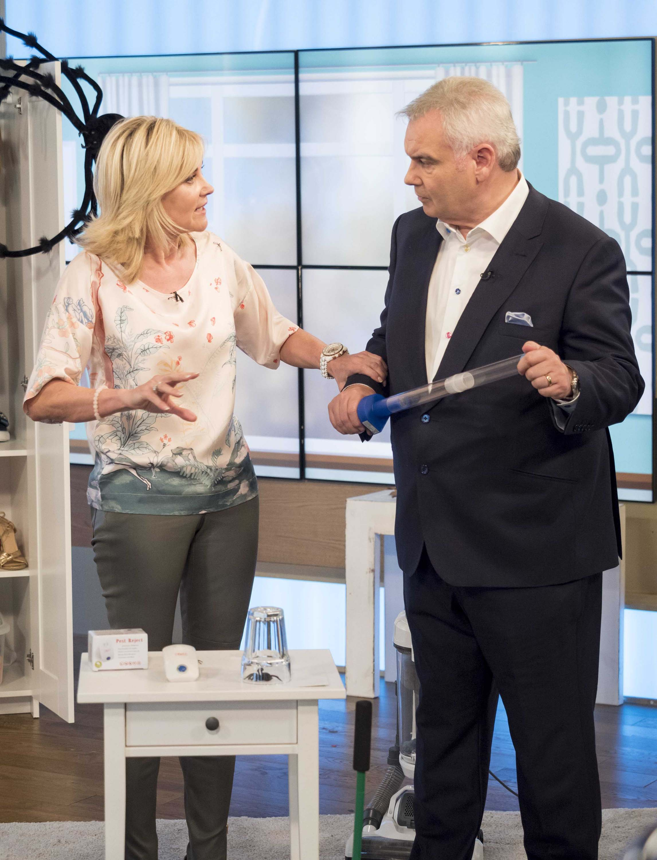 Anthea Turner seen at the This Morning show