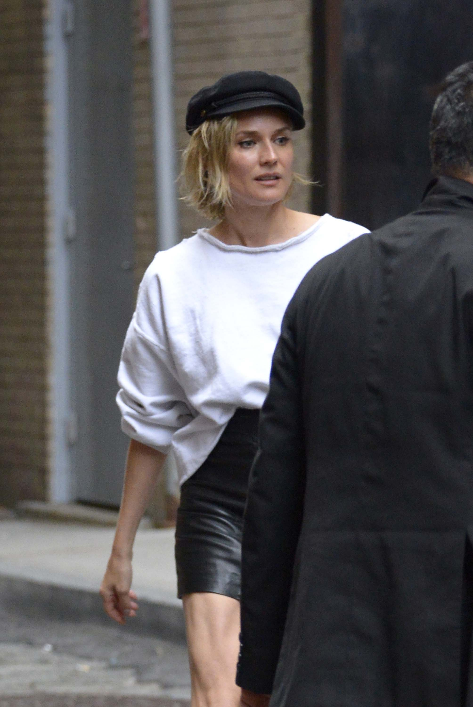 Diane Kruger is spotted stepping out in the Tribeca