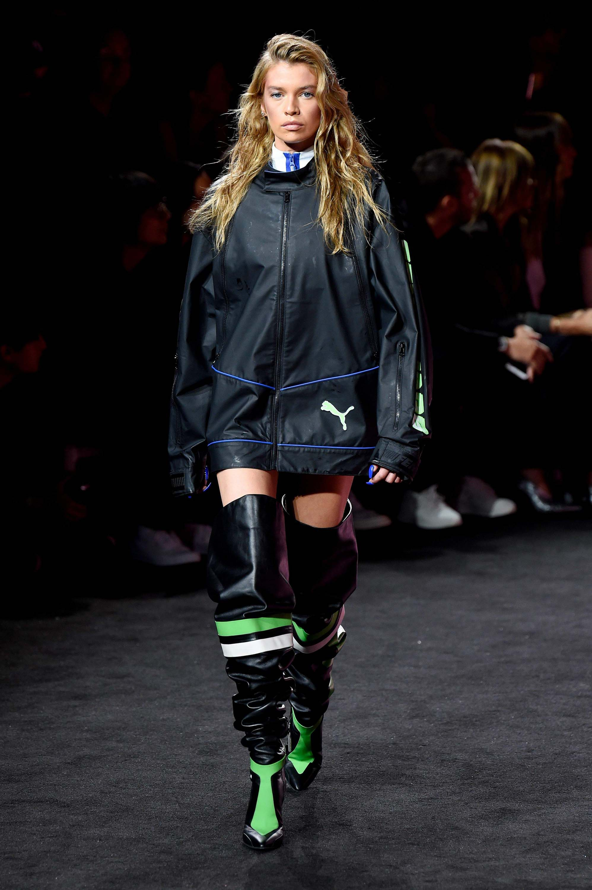 Stella Maxwell attends NY Fashion Week