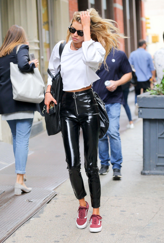 Stella Maxwell attends NY Fashion Week