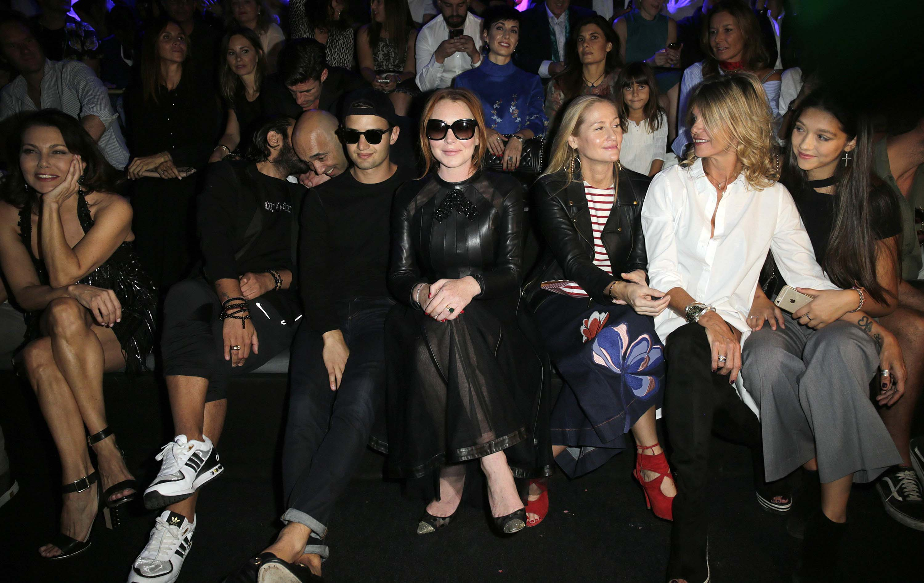 Lindsay Lohan attends Custo Barcelona collection
