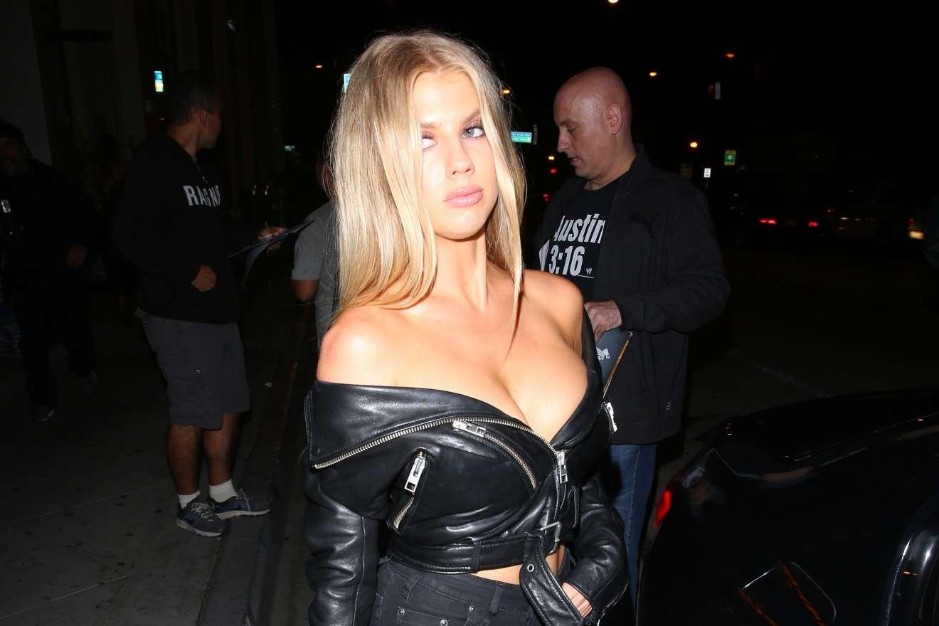 Charlotte McKinney leaving The Catch LA restaurant