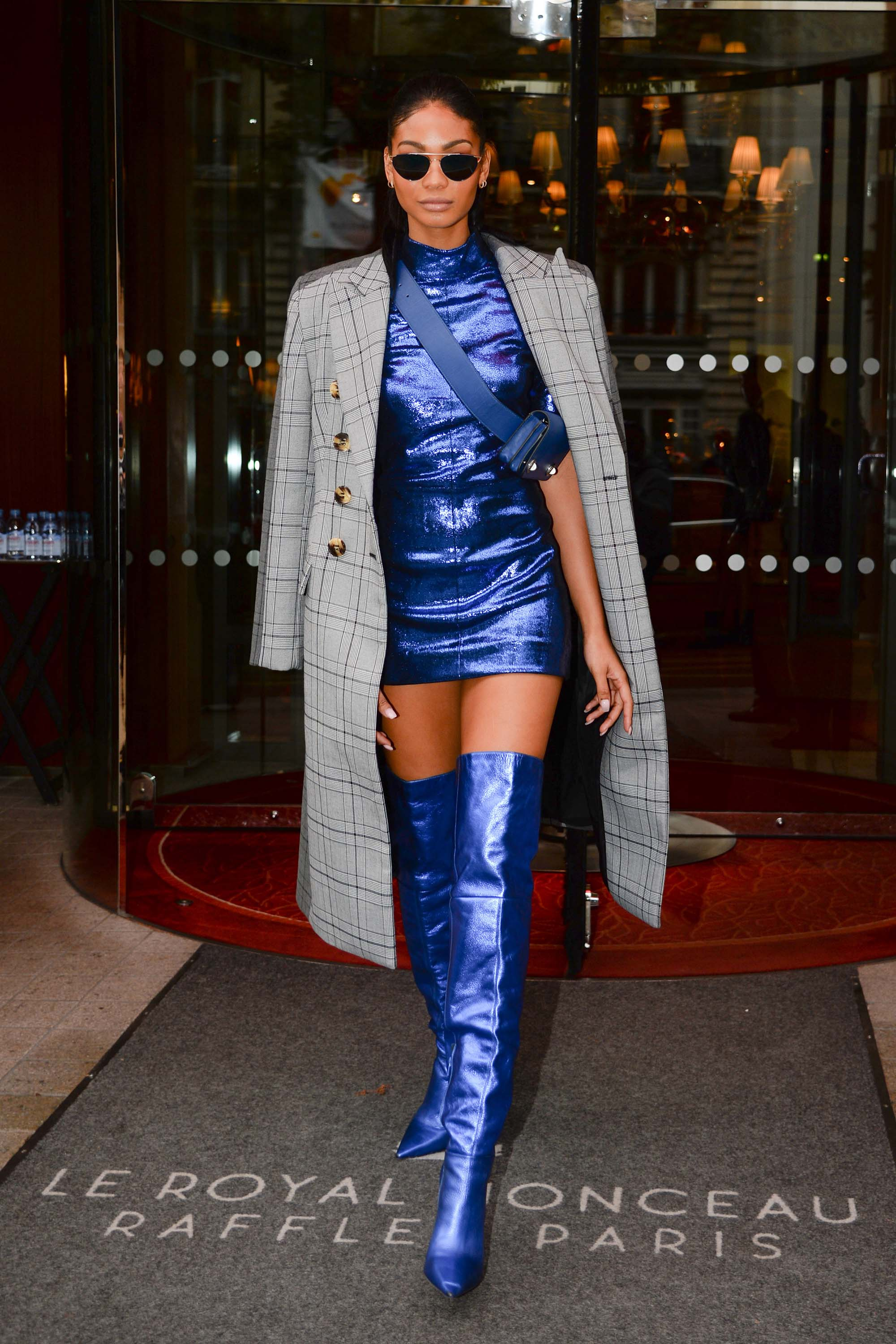 Joan Smalls out and about in Paris