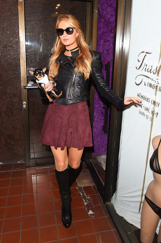 Paris Hilton leaves Trashy Lingerie