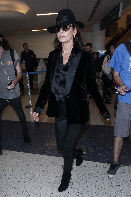 Catherine Zeta Jones at LAX