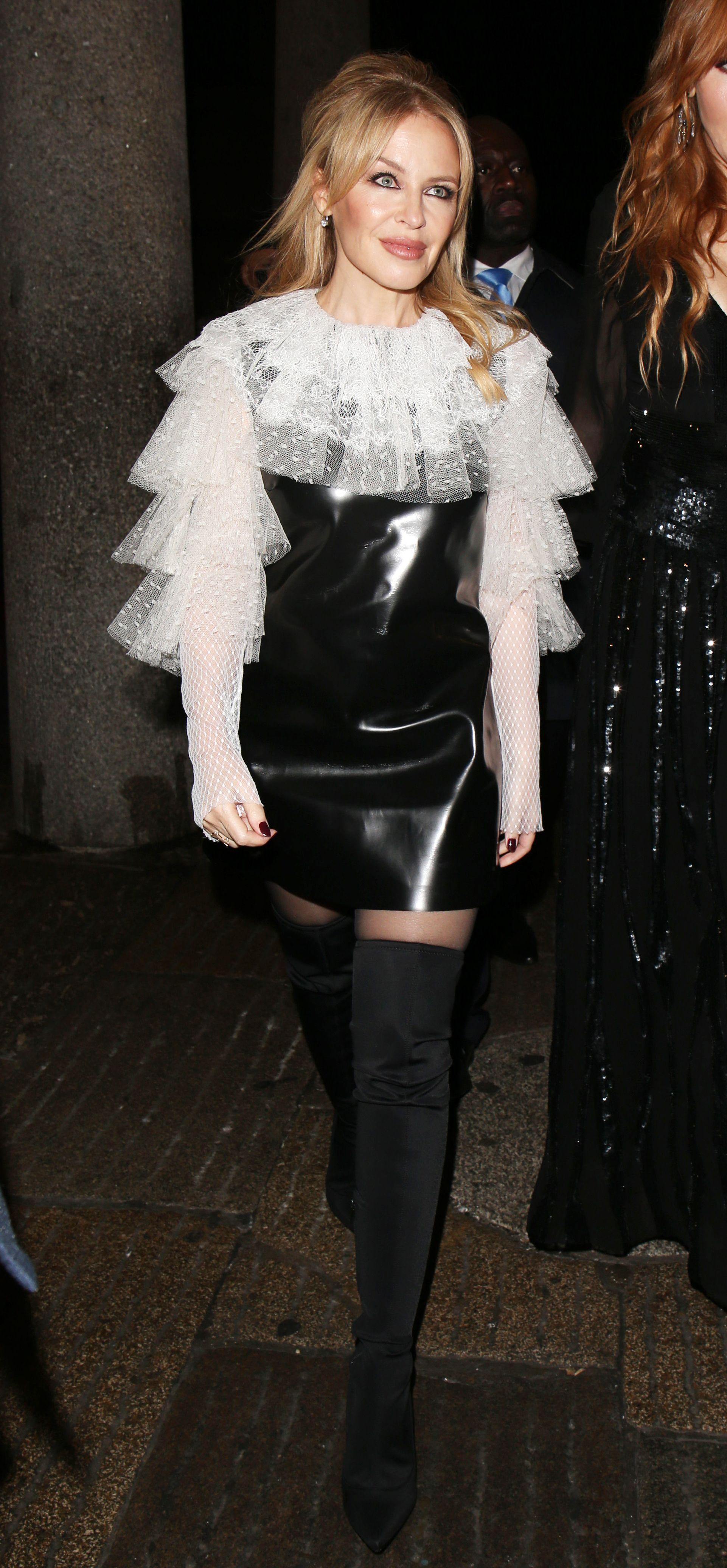 Kylie Minogue attends Covent Garden Christmas Switch On