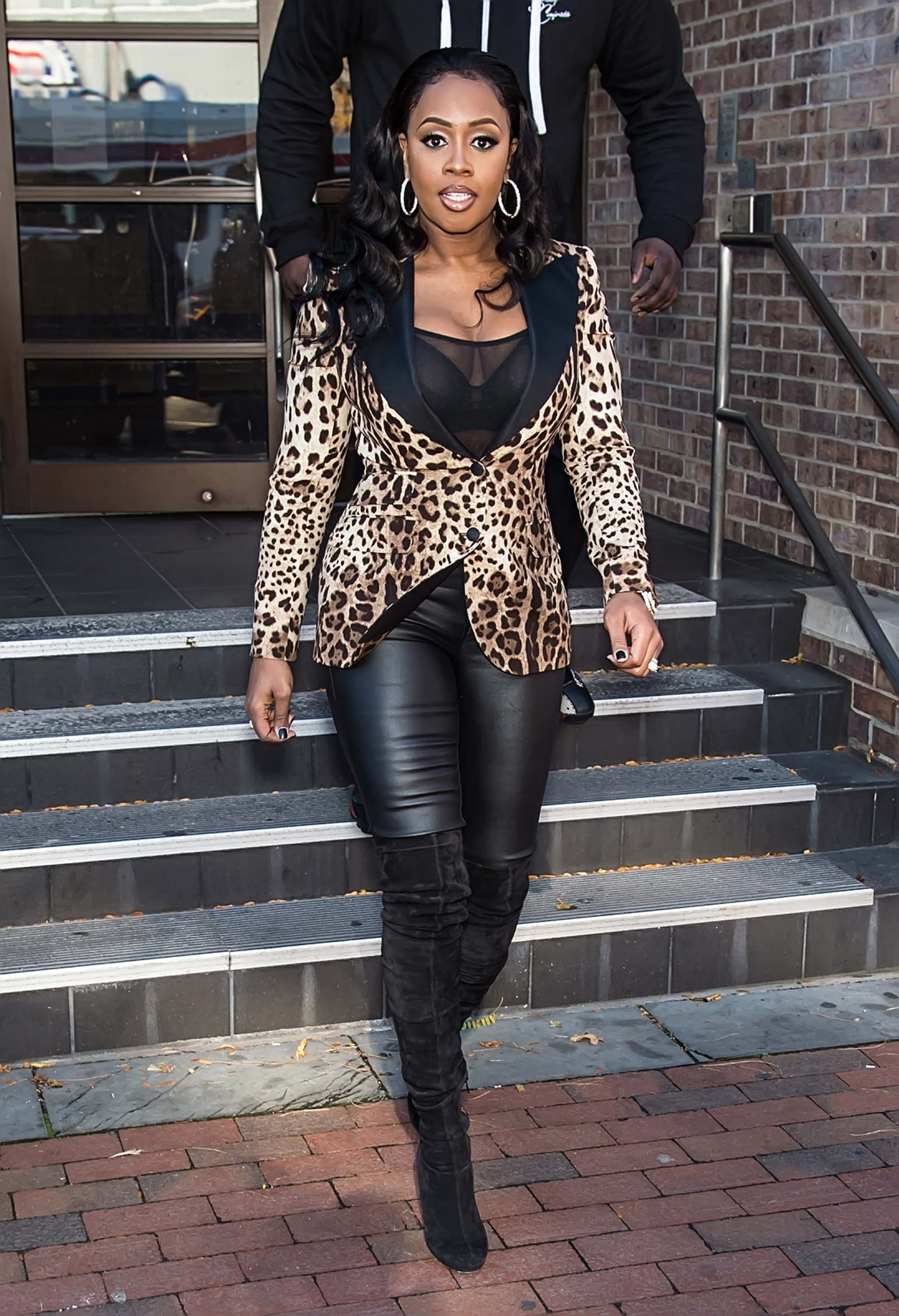 Remy Ma attends The Q Show at FOX 29 Studio