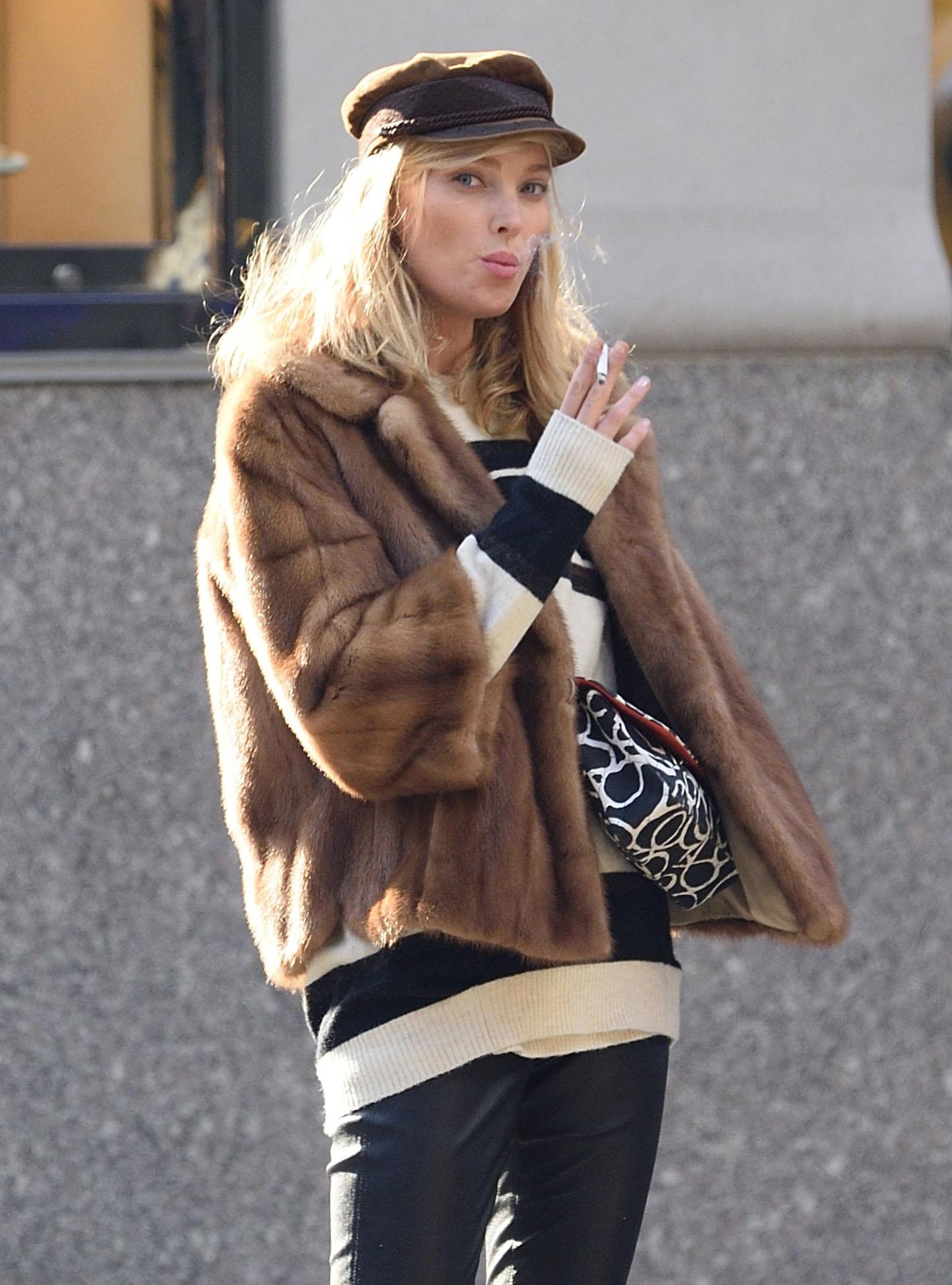 Elsa Hosk out in New York City