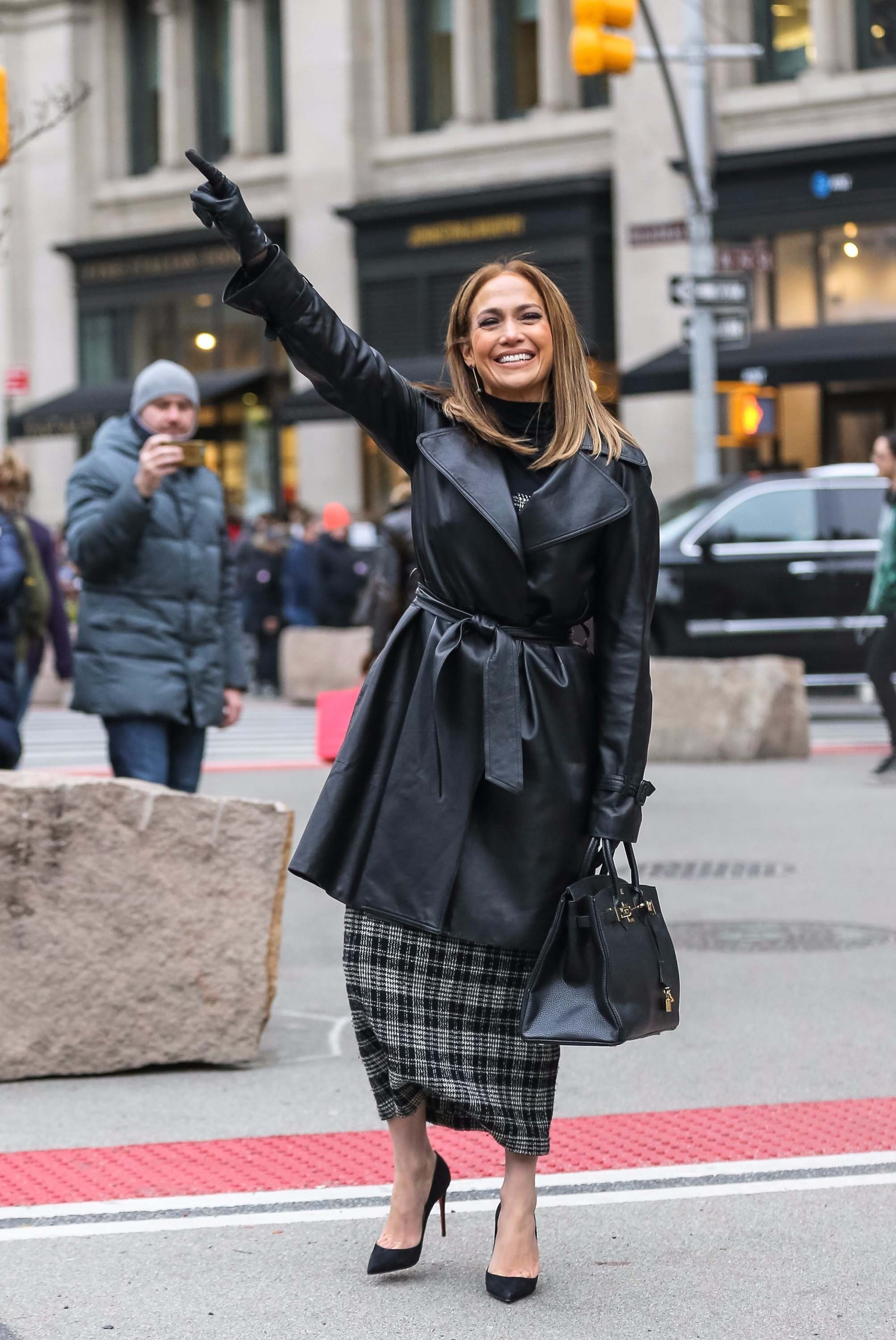 Jennifer Lopez is seen in NYC