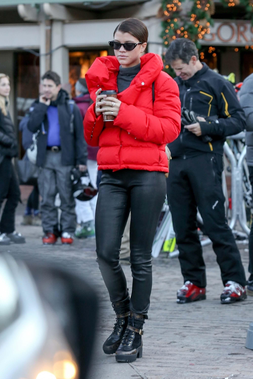 Sofia Richie out in Aspen