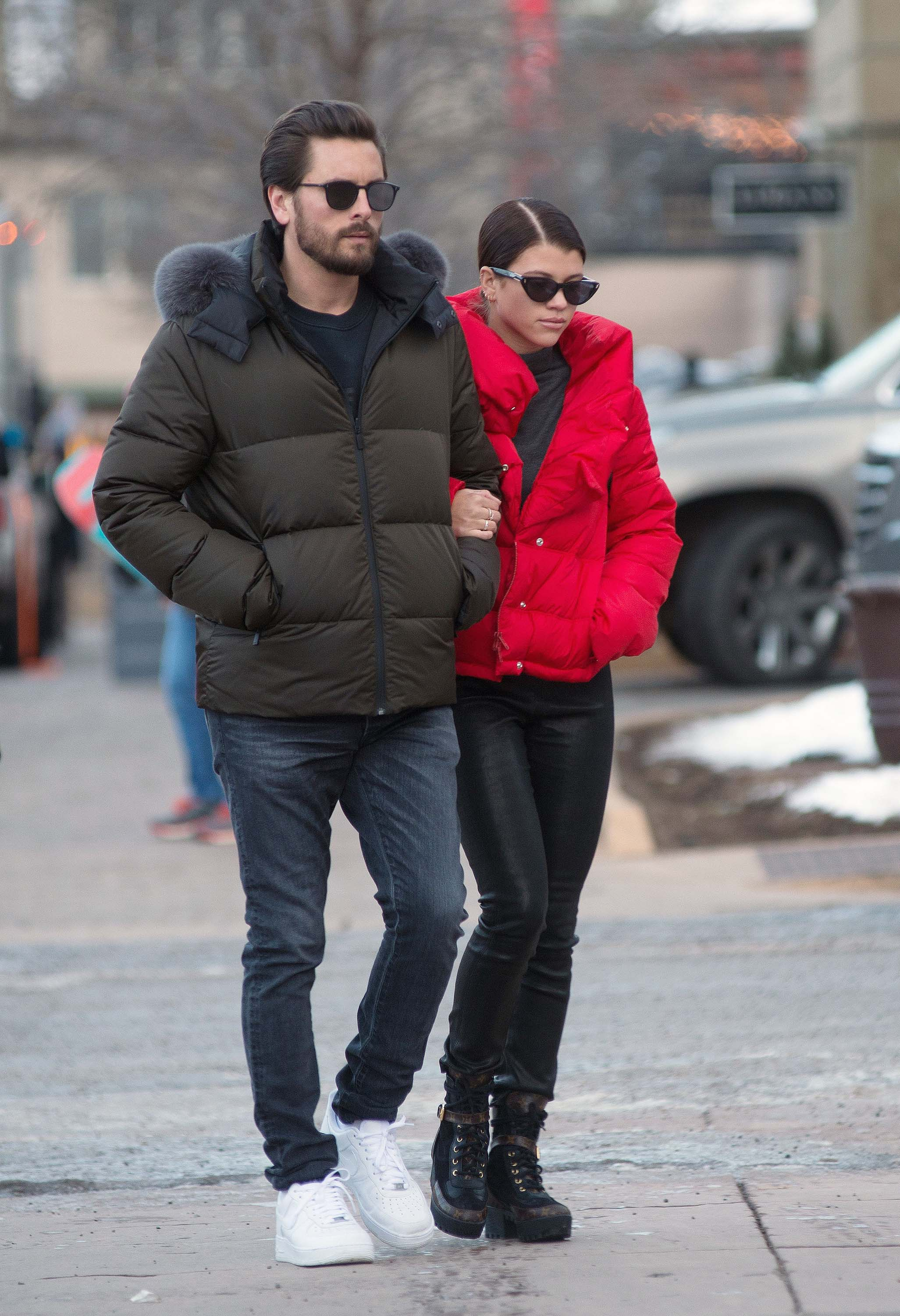 Sofia Richie out in Aspen
