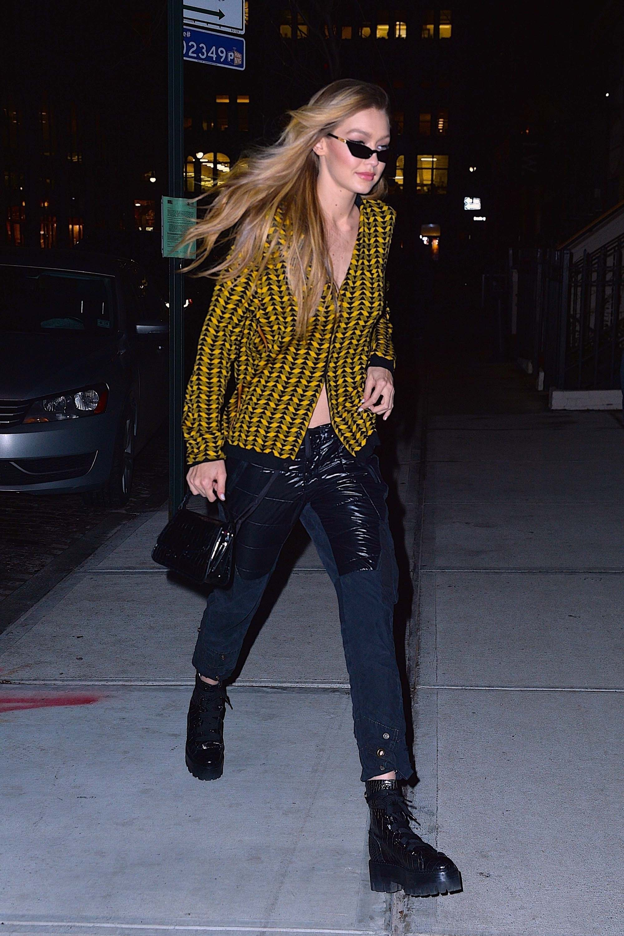 Gigi Hadid at her apartment in NYC