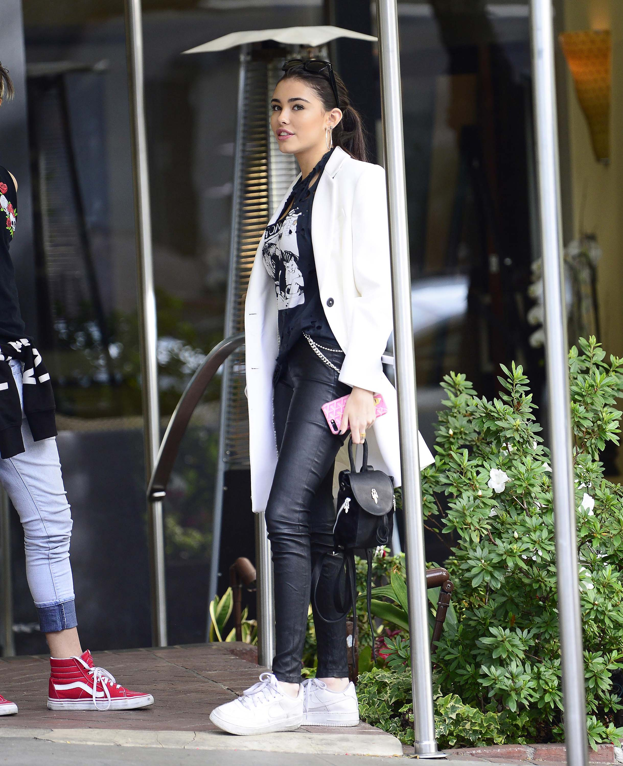 Madison Beer leaves the Sunset Marquis Hotel