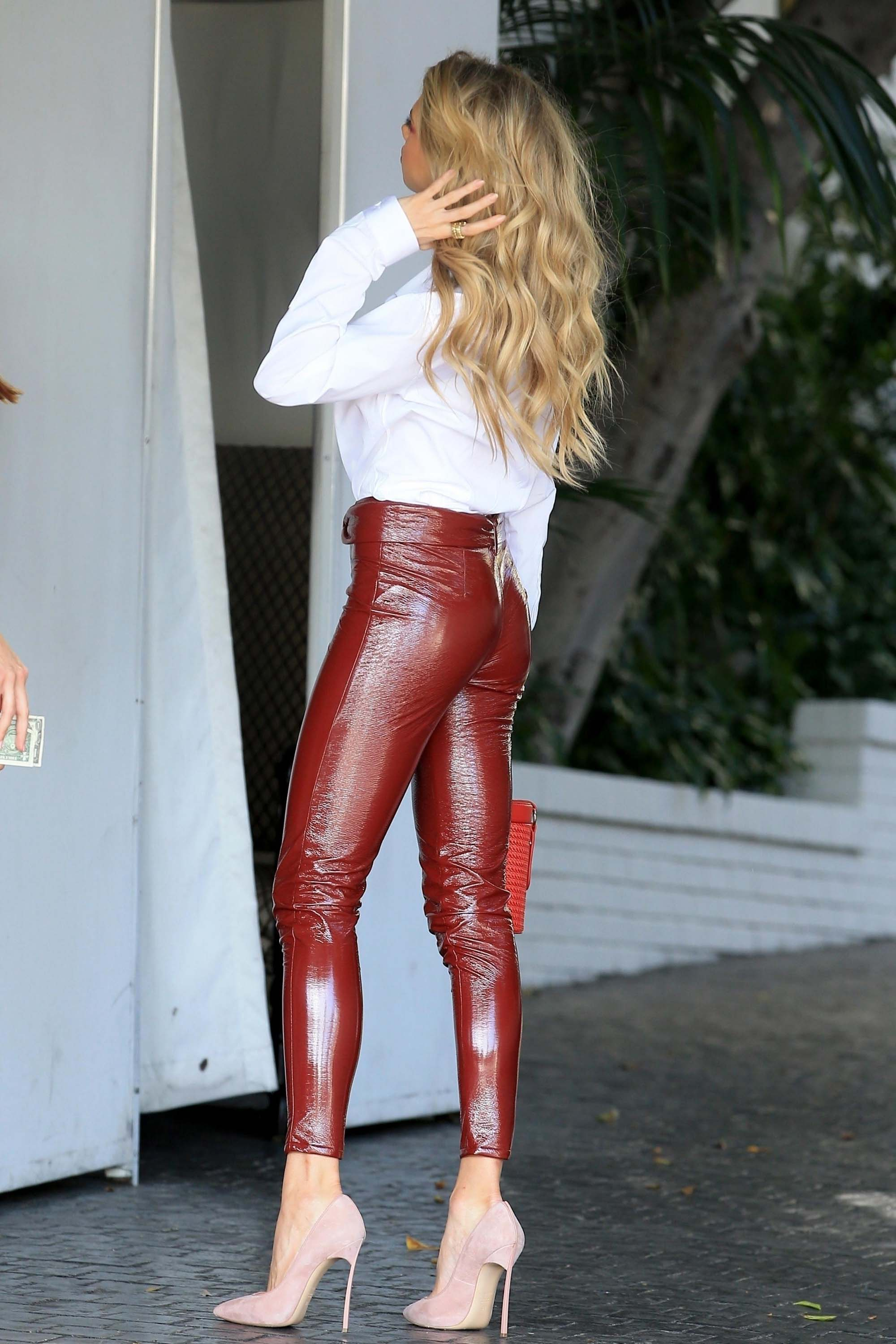Charlotte McKinney leaves the Chateau Marmont Hotel