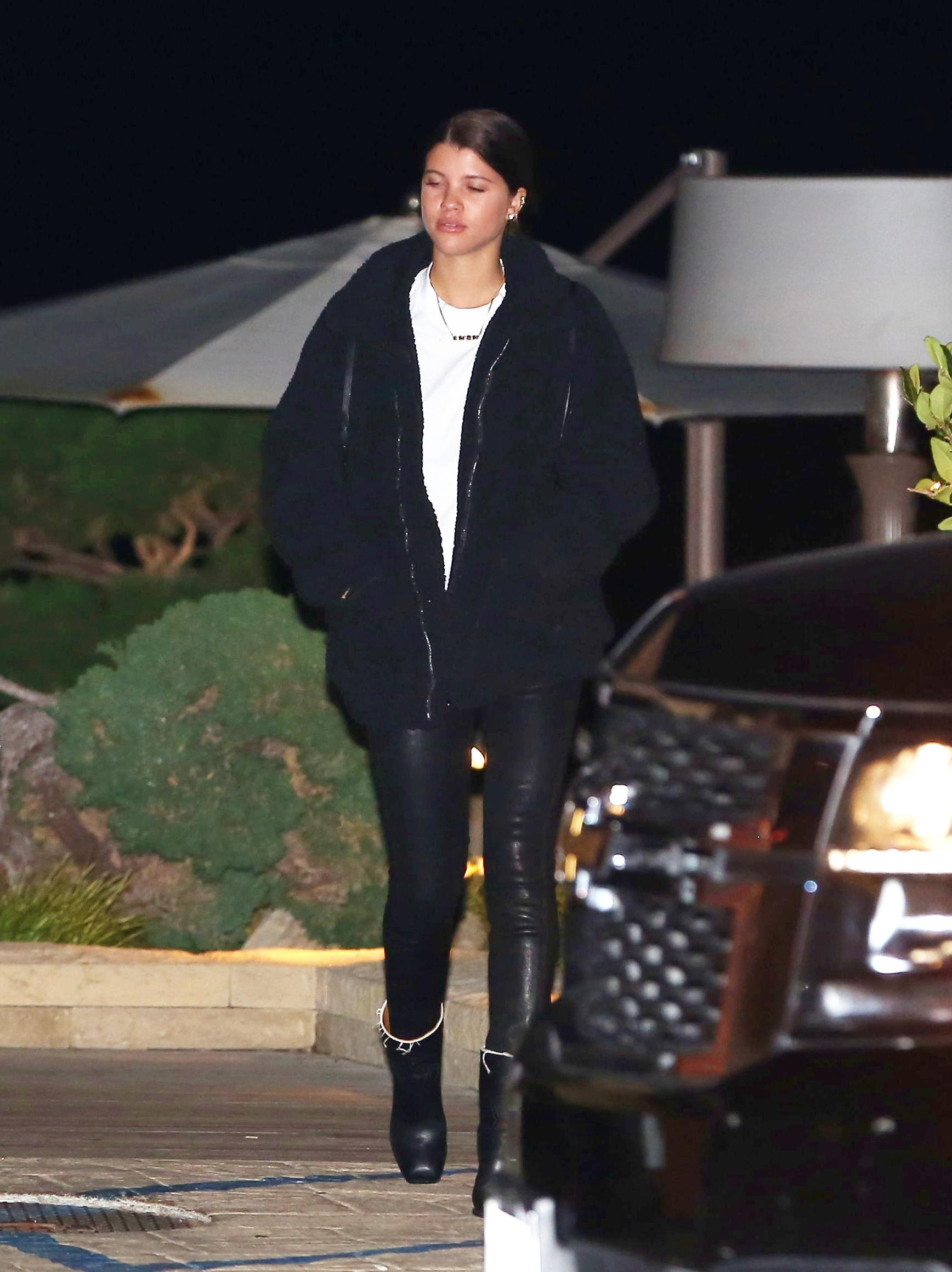 Sofia Richie at Nobu in Malibu