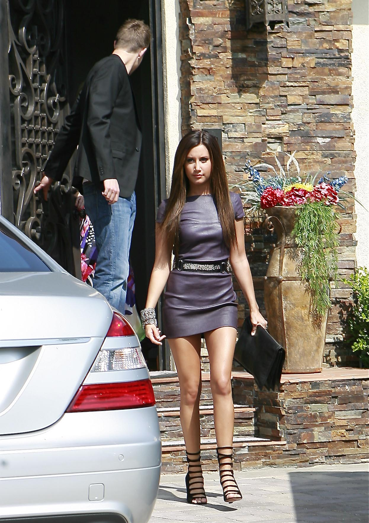 Ashley Tisdale seen leaving her house