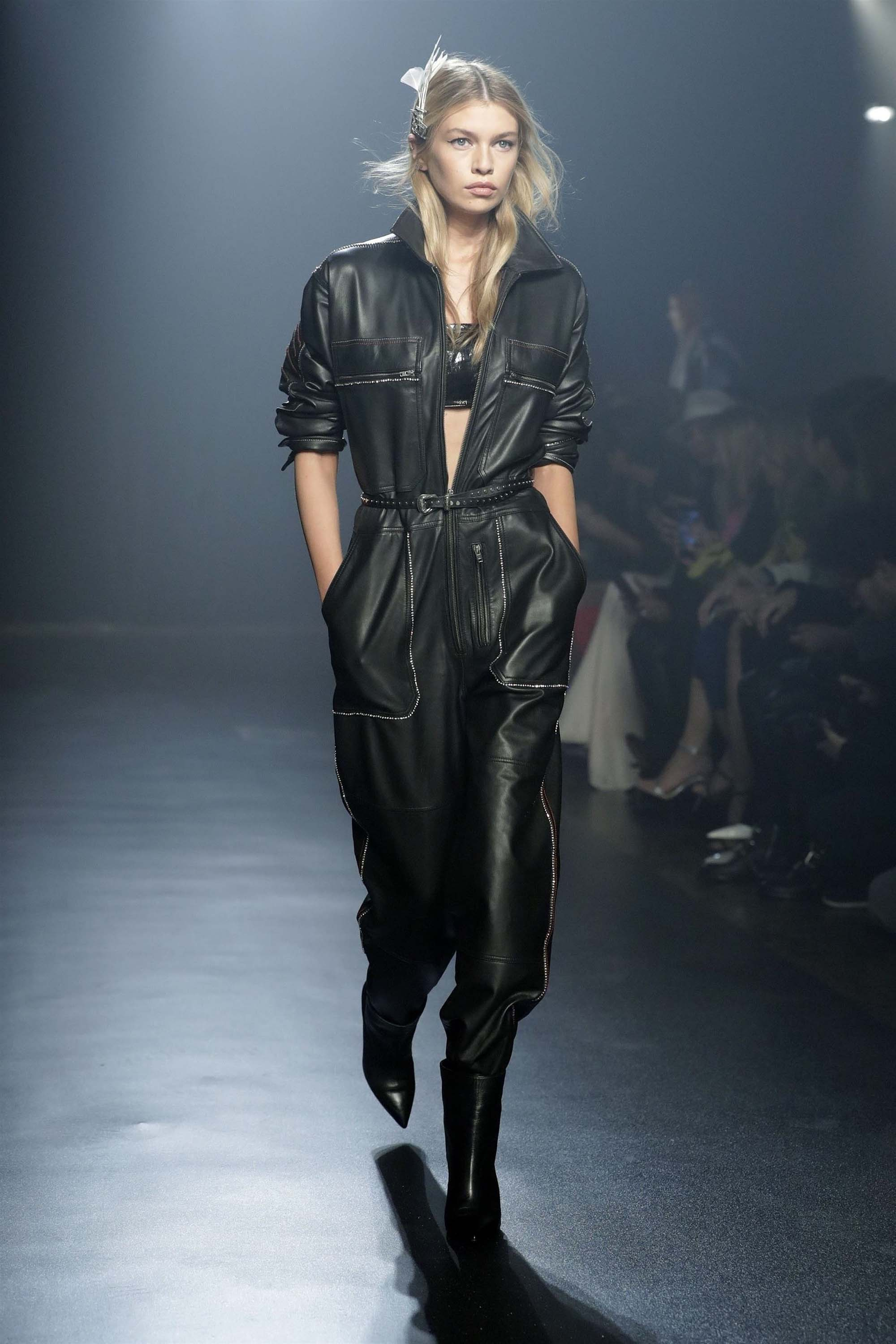 Stella Maxwell attends Walks in the Zadig & Voltaire show