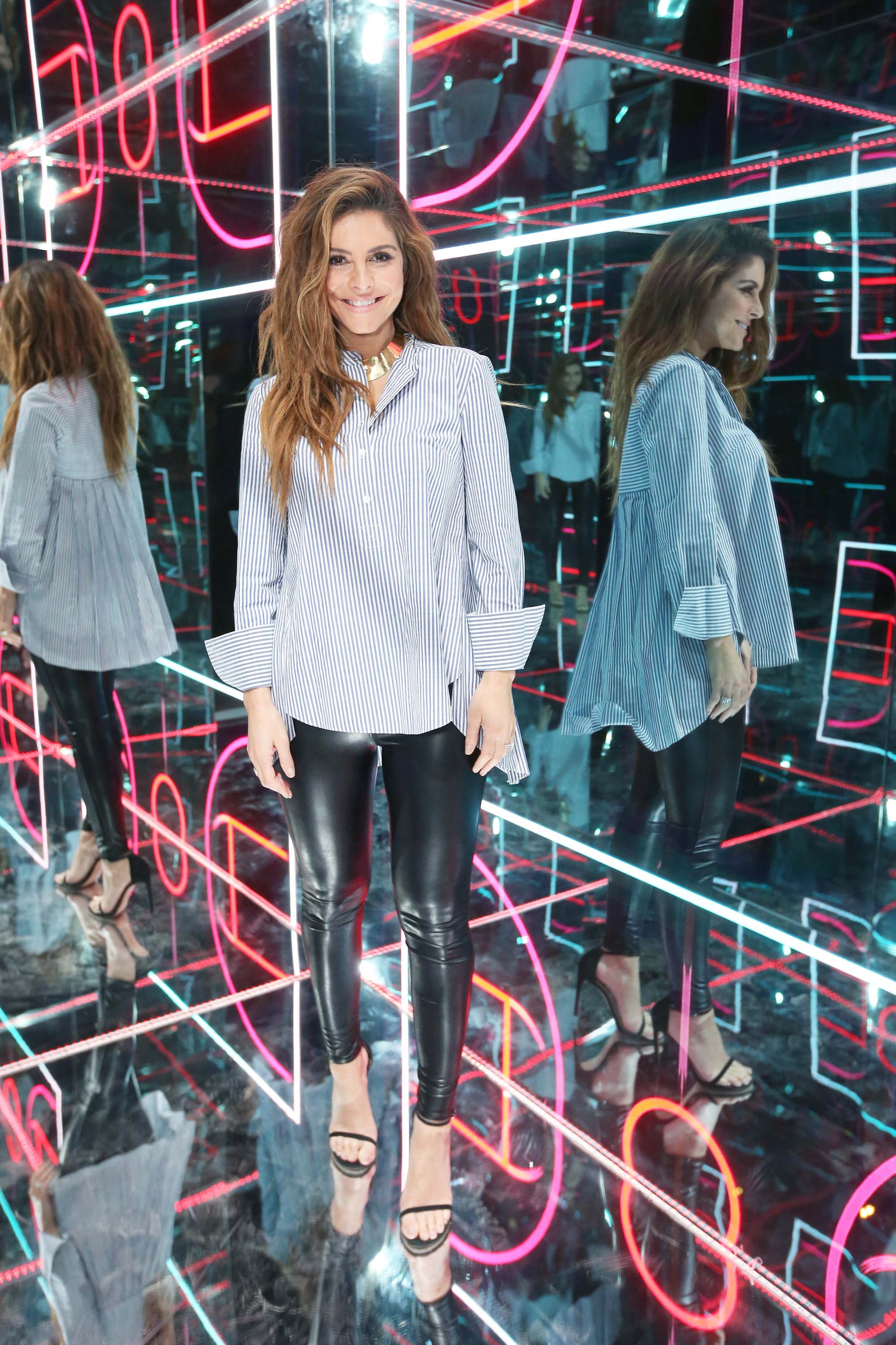 Maria Menounos attends American Express Fan Experience