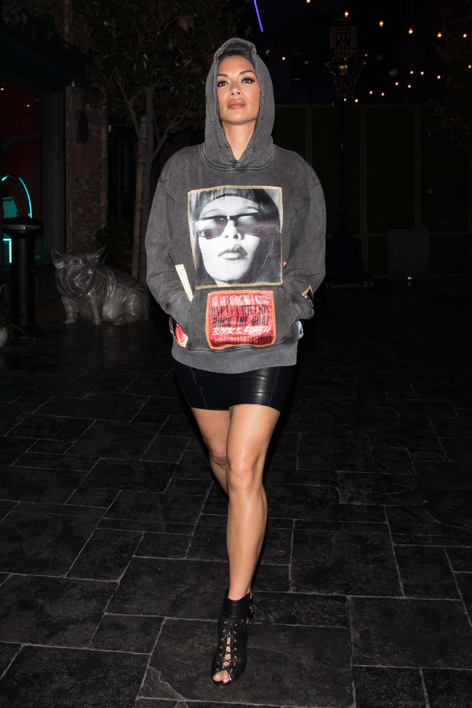Nicole Scherzinger is seen arriving to Avenue