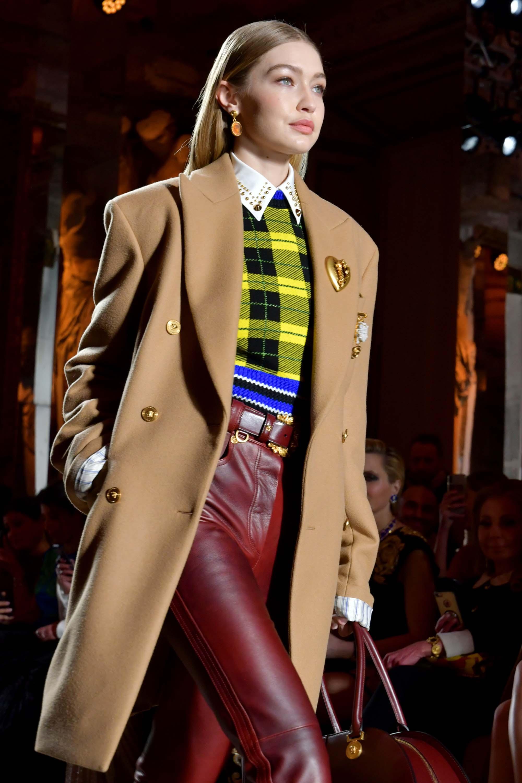 Gigi Hadid attends Versace show
