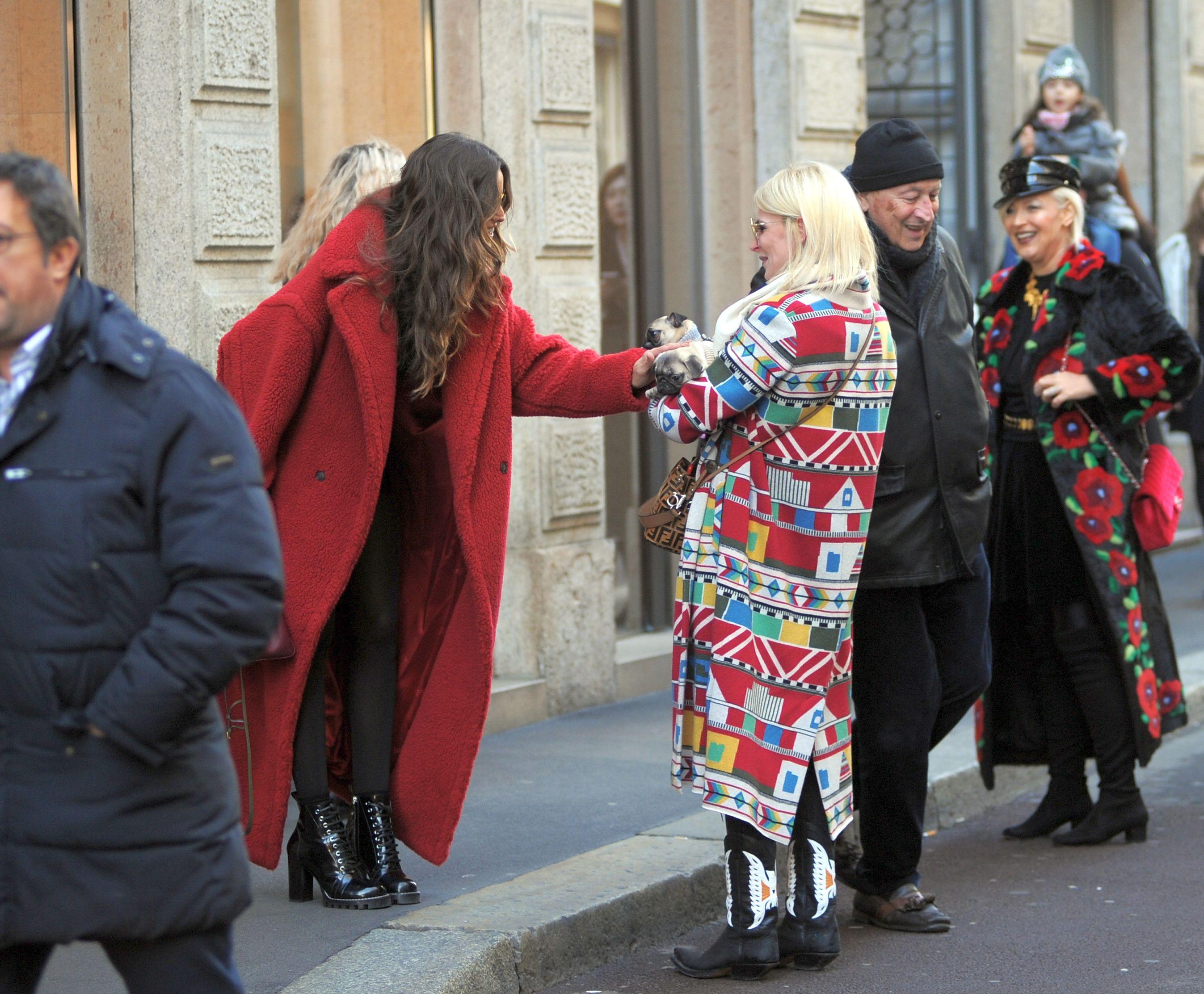 Izabel Goulart walks in Milan