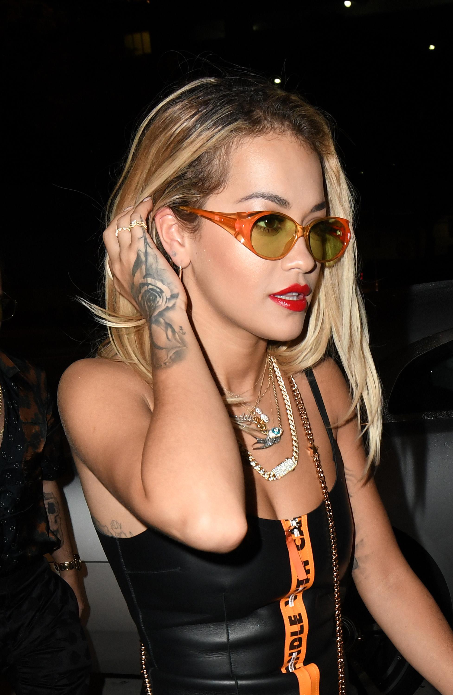 Rita Ora leaves The Komodo