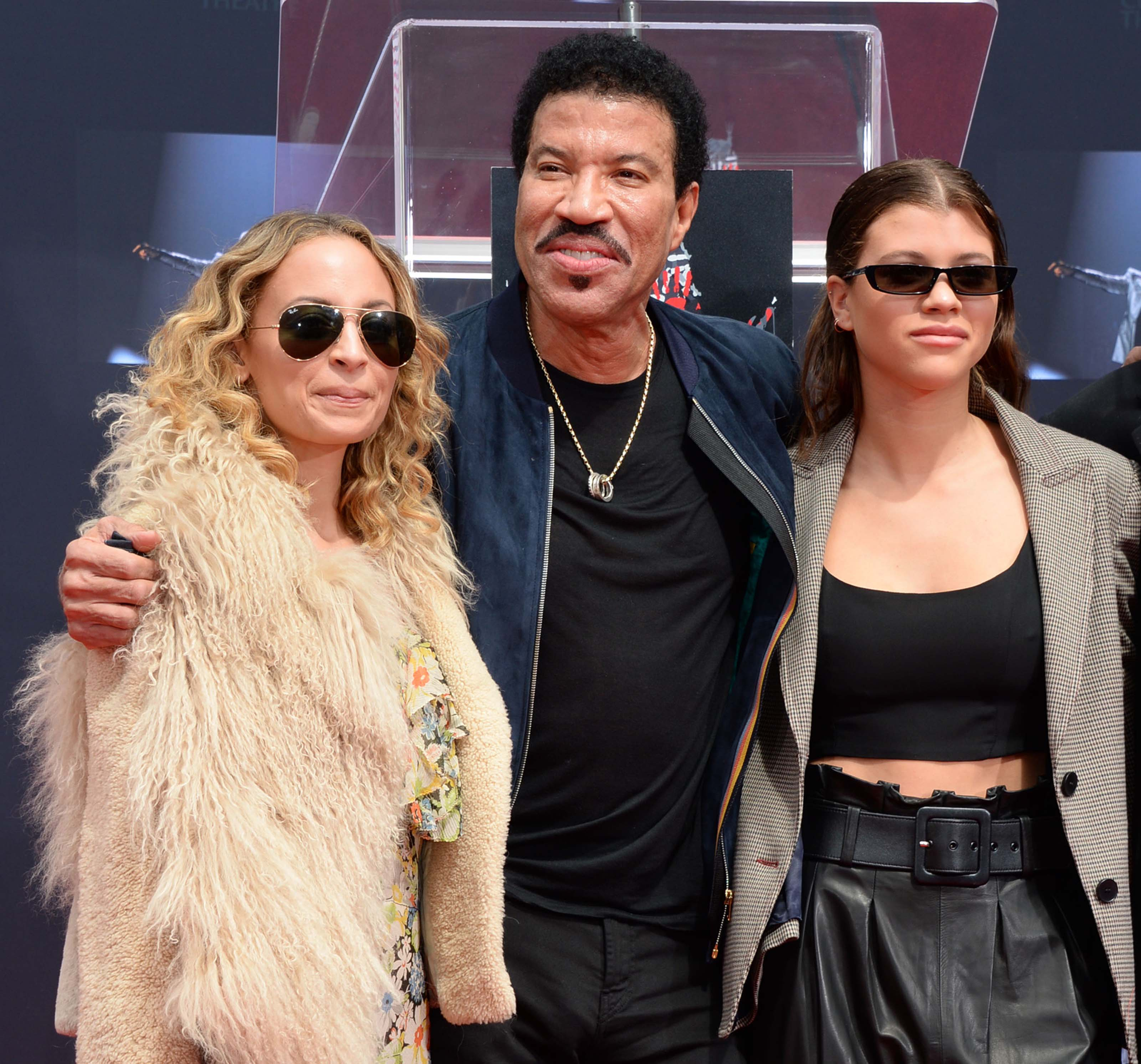 Sofia Richie attends Lionel Richie's Hand and Footprint Ceremony