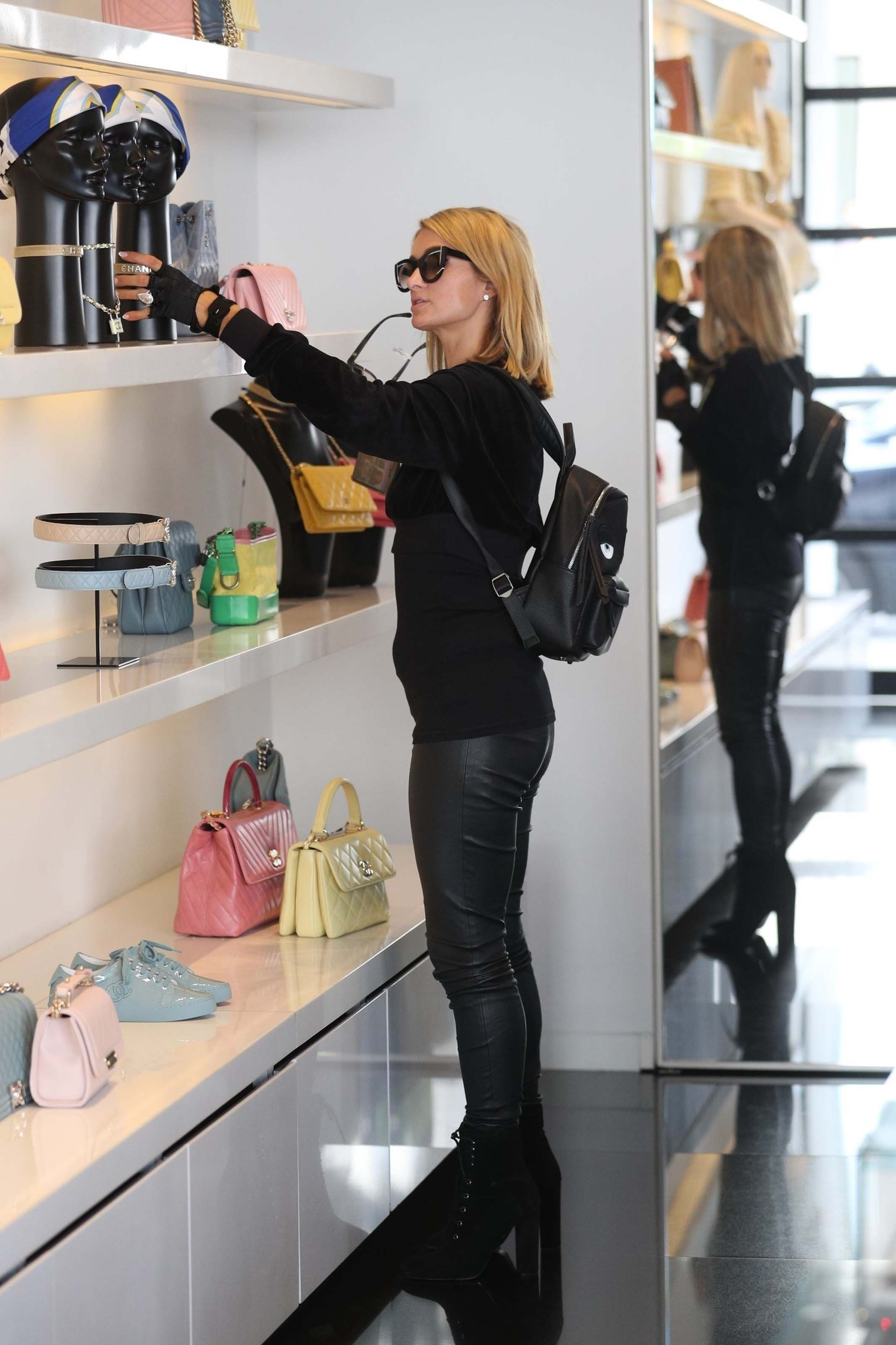 Paris Hilton shopping in West Hollywood