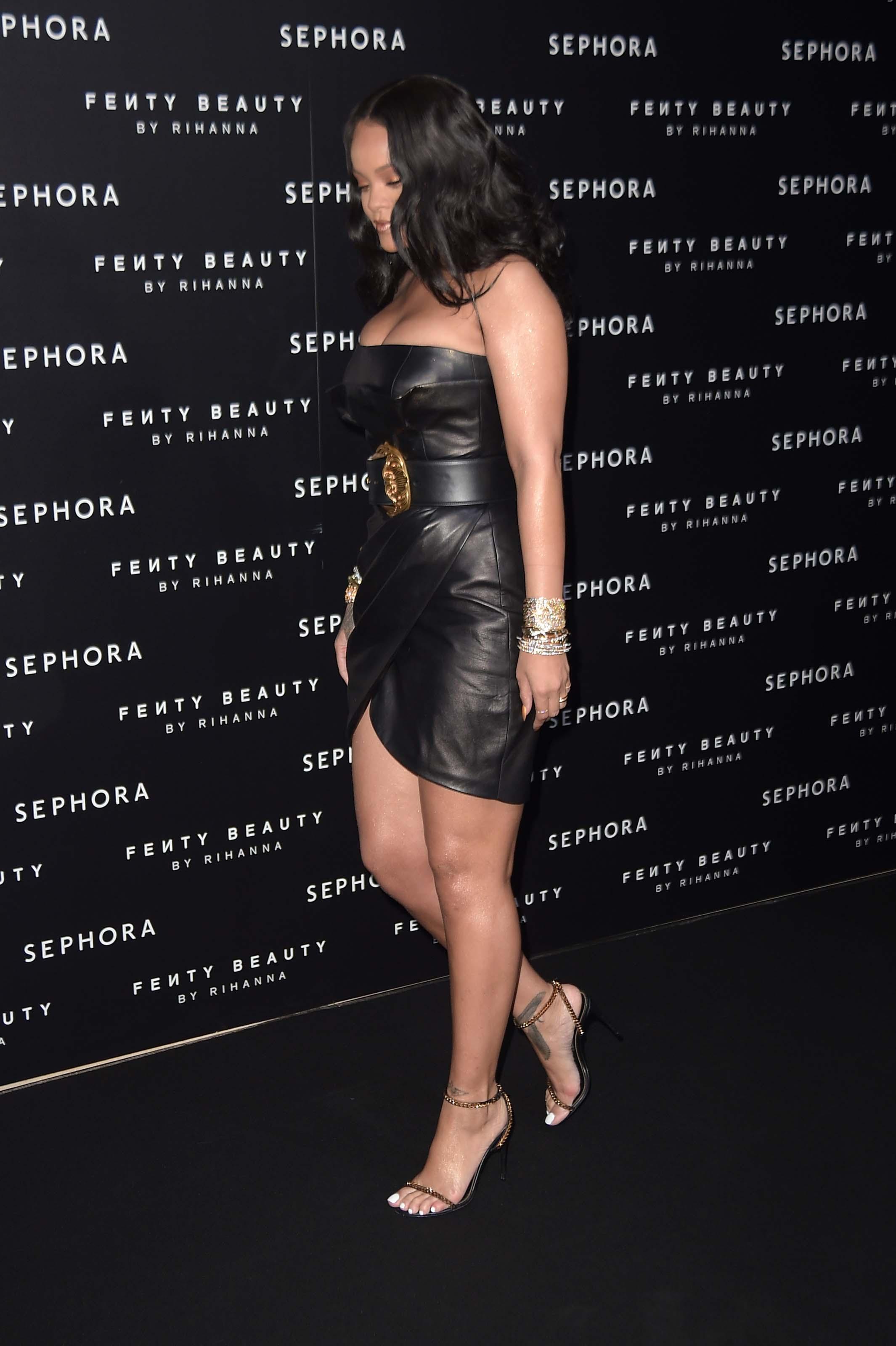 "Rihanna at the launch of make-up ""Fenty beauty"" line"