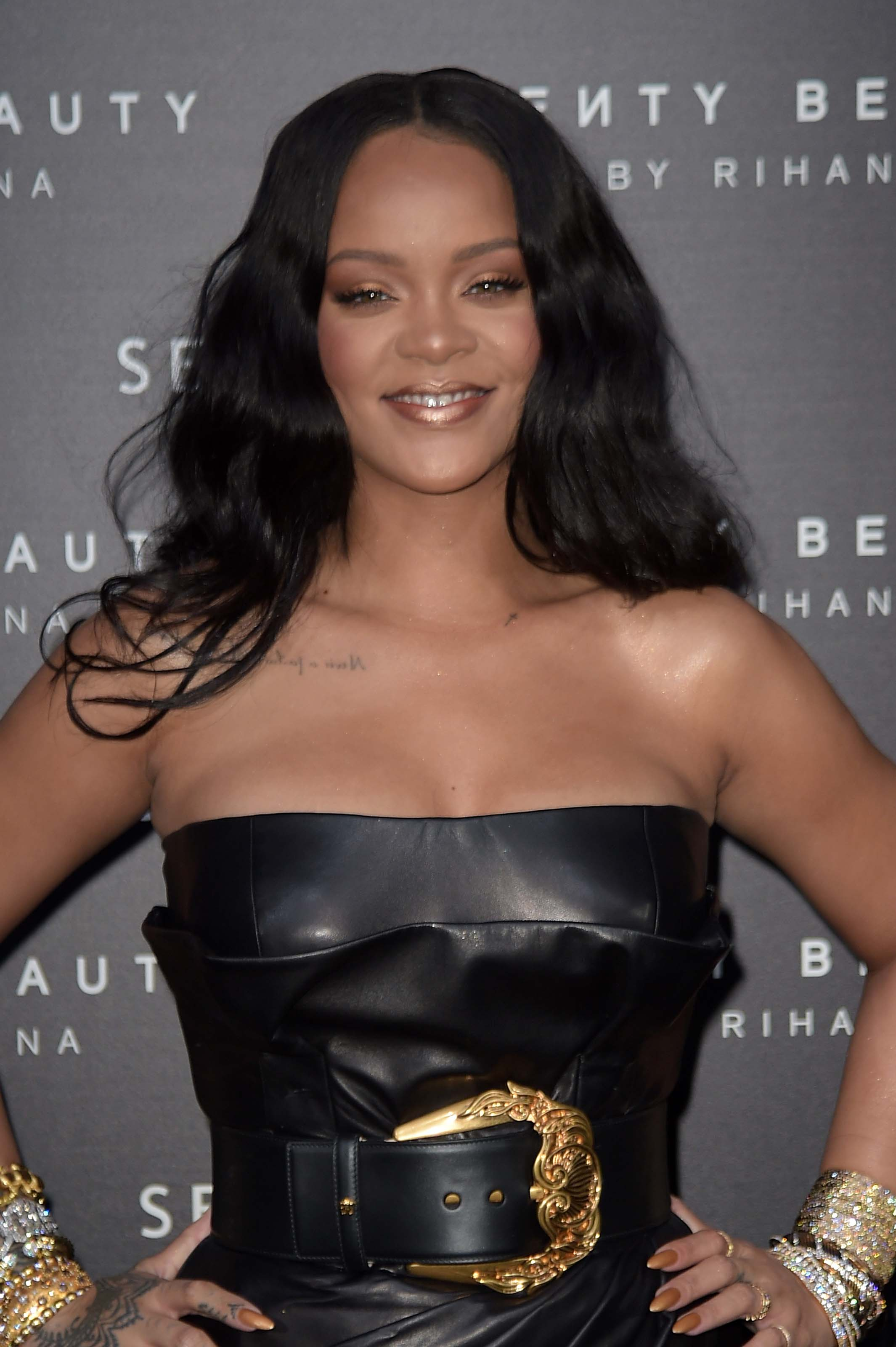 "Rihanna at the launch of make-up ""Fenty beauty"" line"