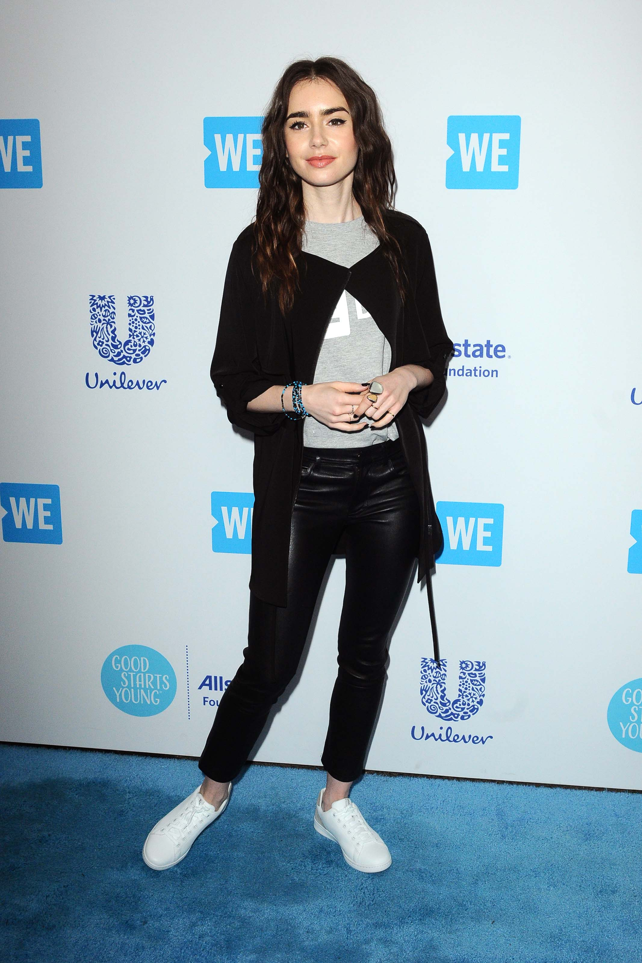 Lily Collins attends WE Day California