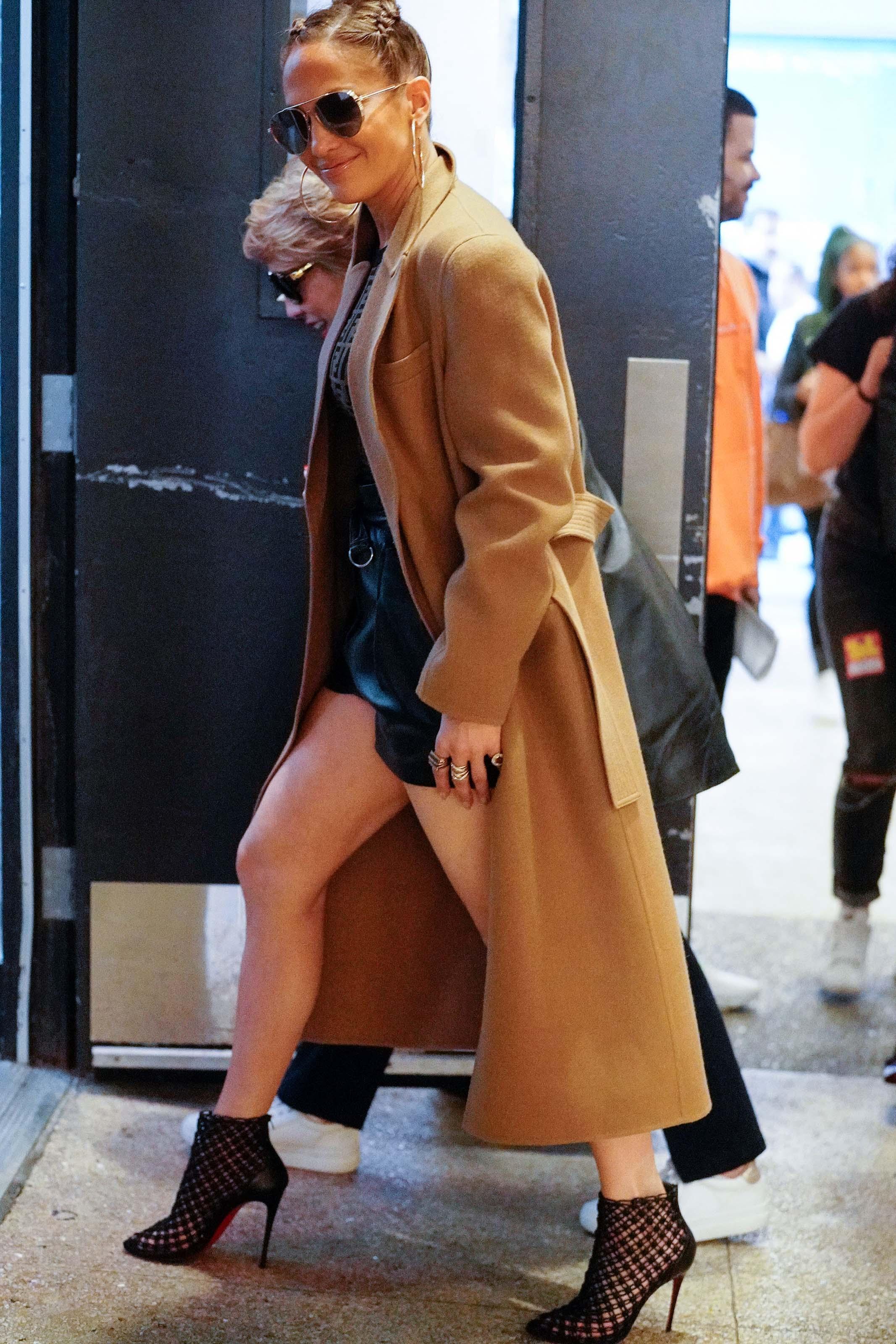 Jennifer Lopez at TRL in New York