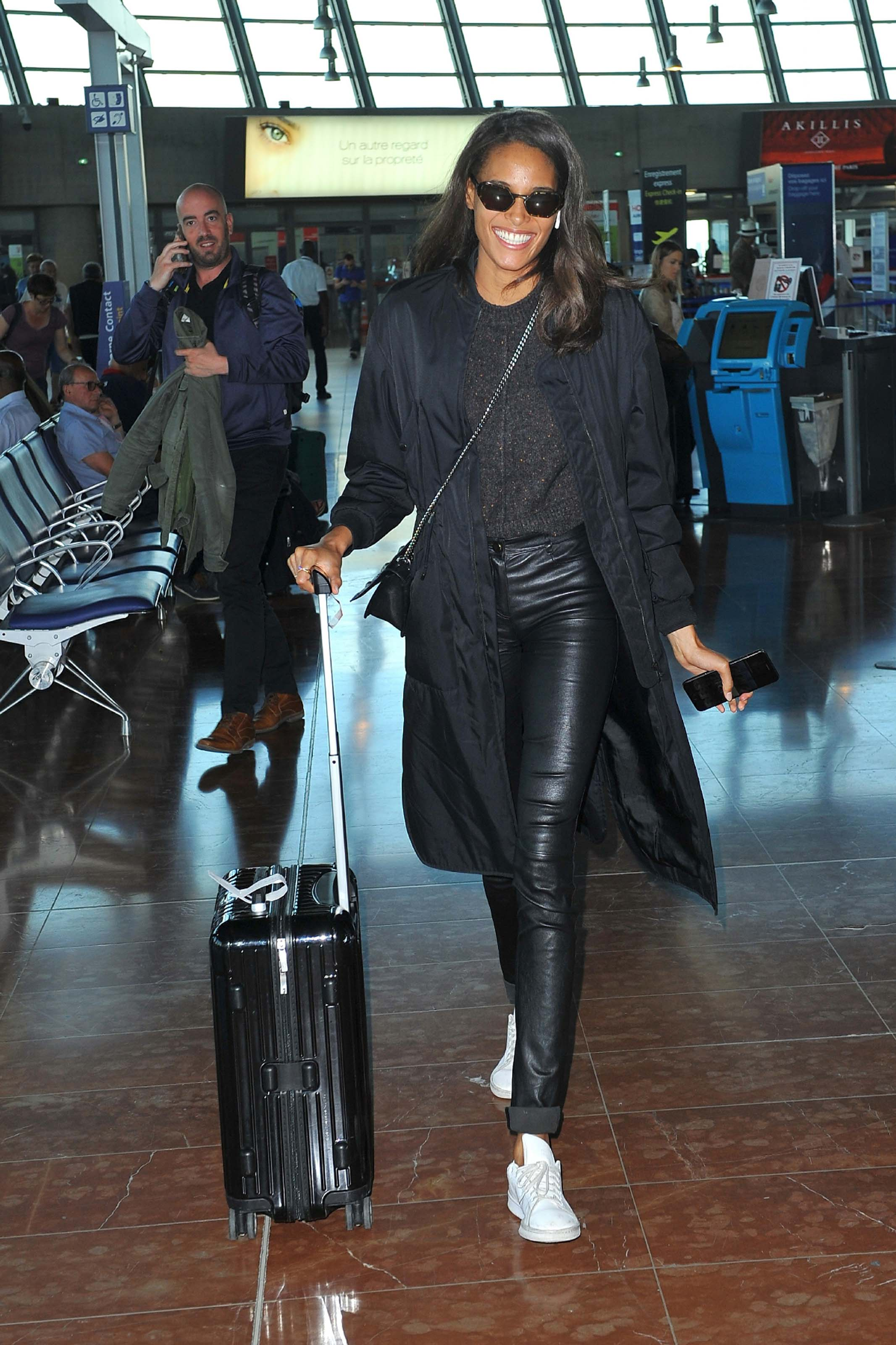 Cindy Bruna at Nice airport